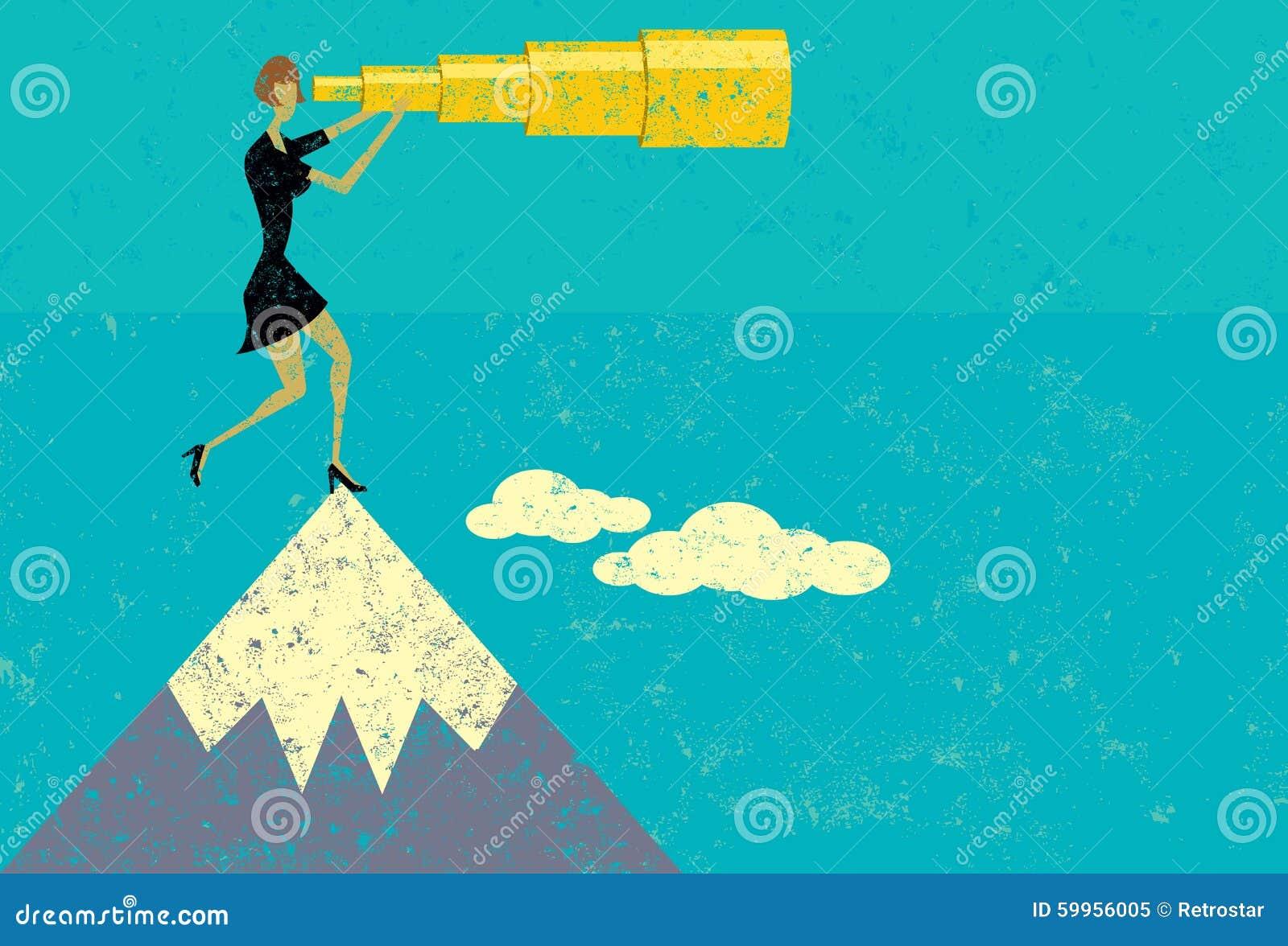Clipart Man On Mountaintop
