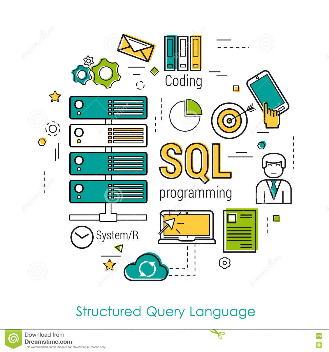 structure query language Structured query language database queries are usually constructed using sql, or structured query language sql is a standard computer language for accessing and manipulating a database.