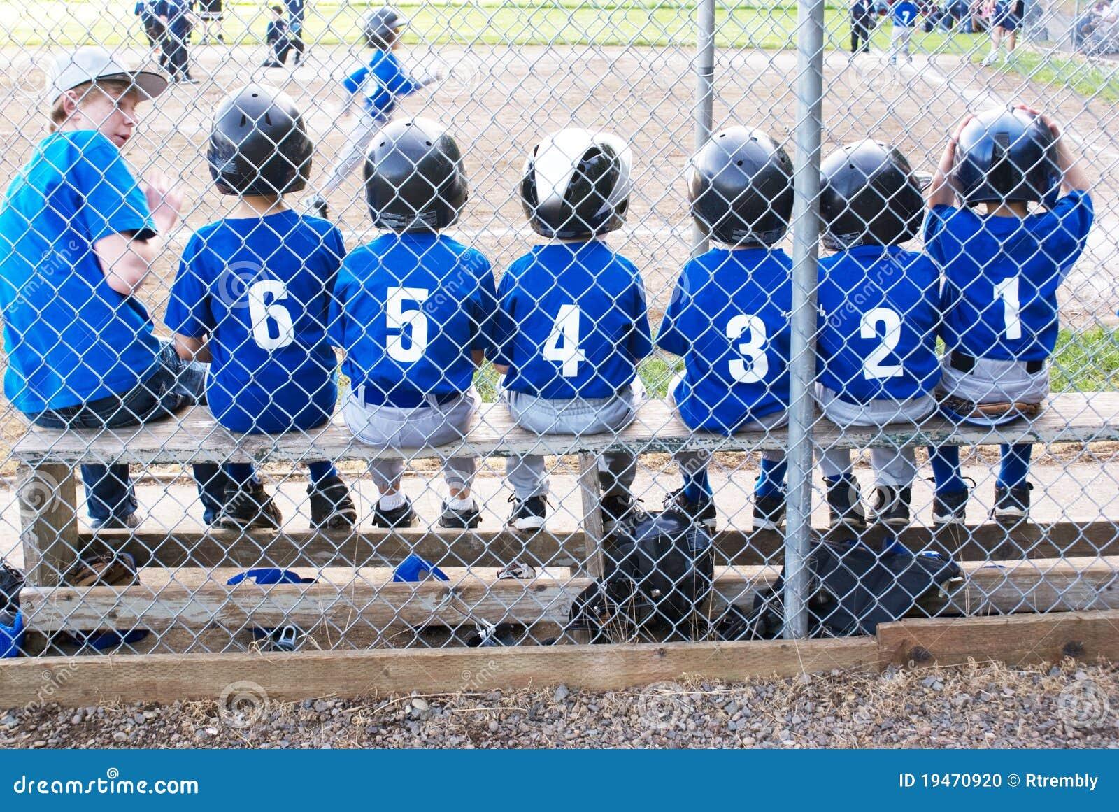Squadra di baseball nell ordine numerico.