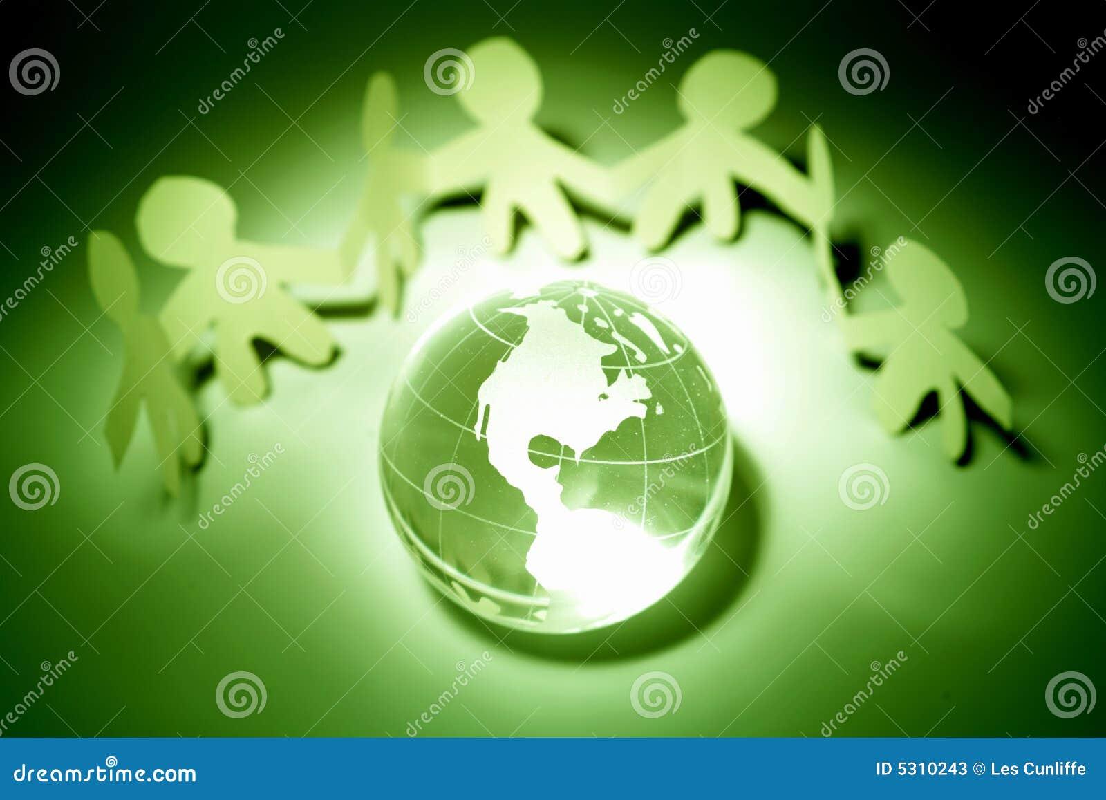 Download Squadra e globo immagine stock. Immagine di allegory, ambientale - 5310243