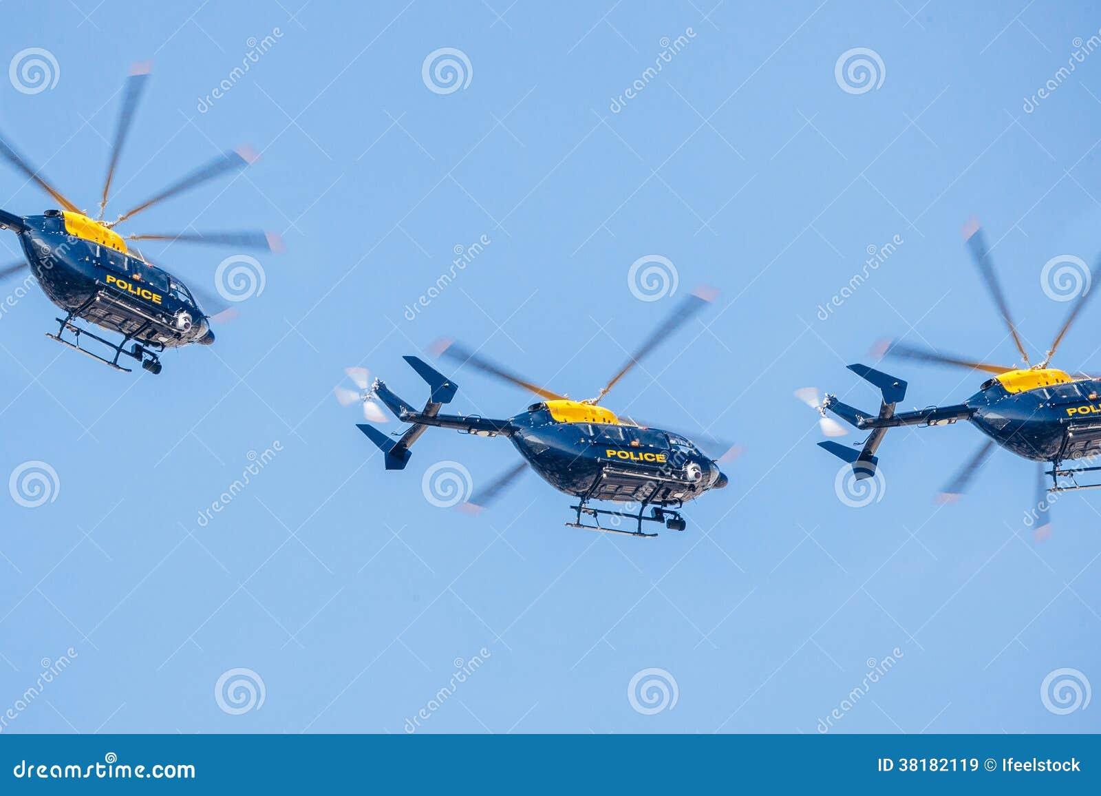 Squadrone dell elicottero di polizia