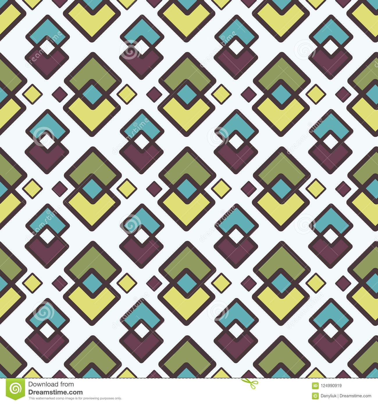 Square Abstract Geometric Pattern With Rhombuses Seamless