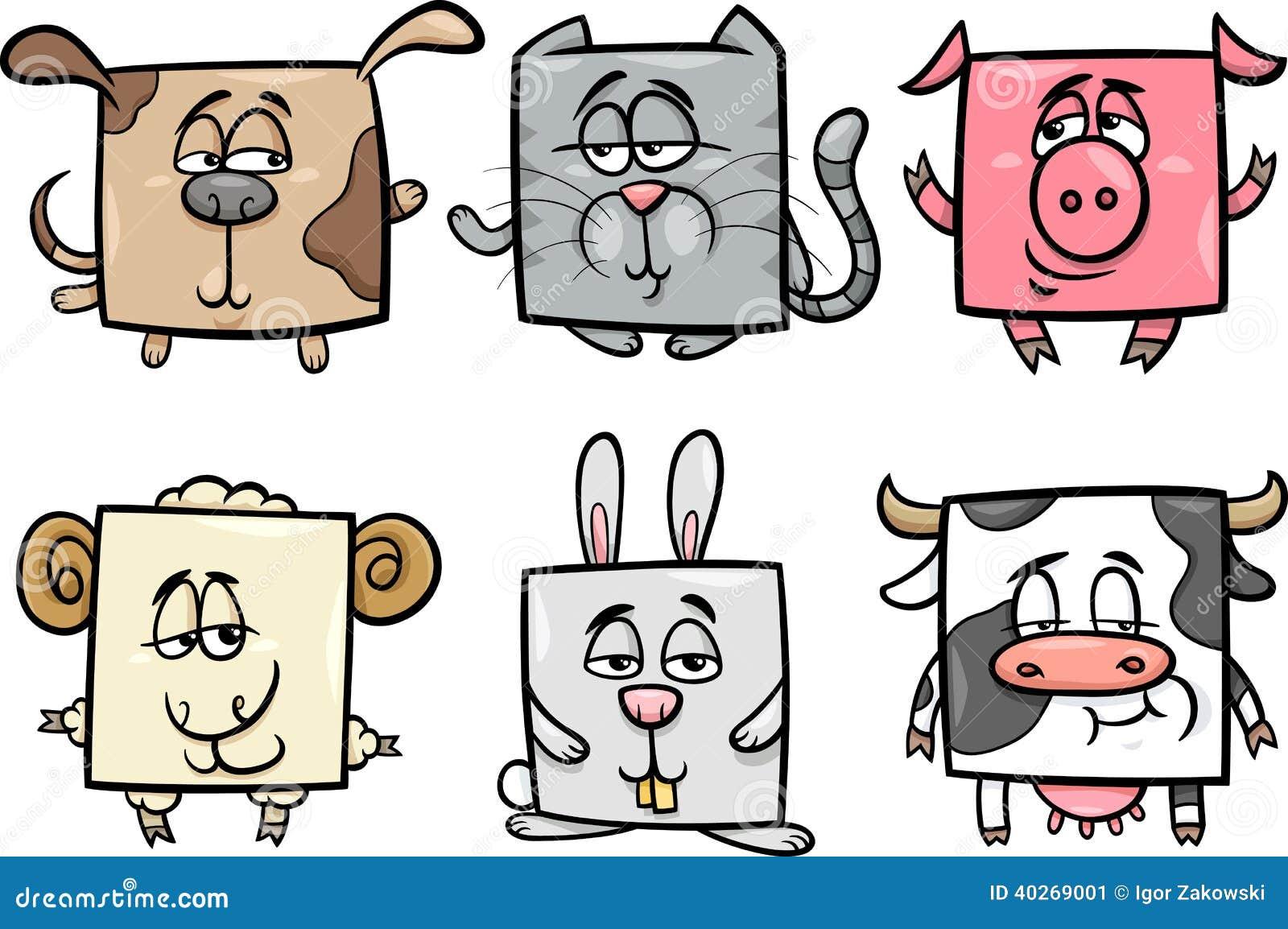 عکس حیوانات کارتونی بامزه