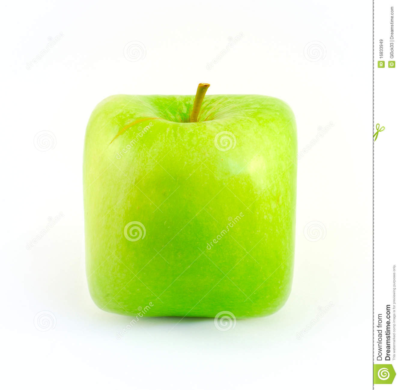 Square Apple Royalty Free Stock Images - Image: 16833949