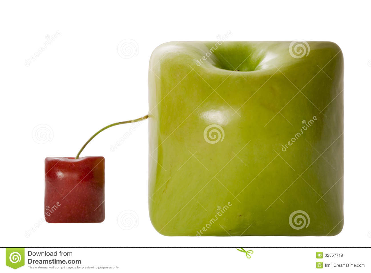 Square Apple And Cherry Royalty Free Stock Photos - Image ...