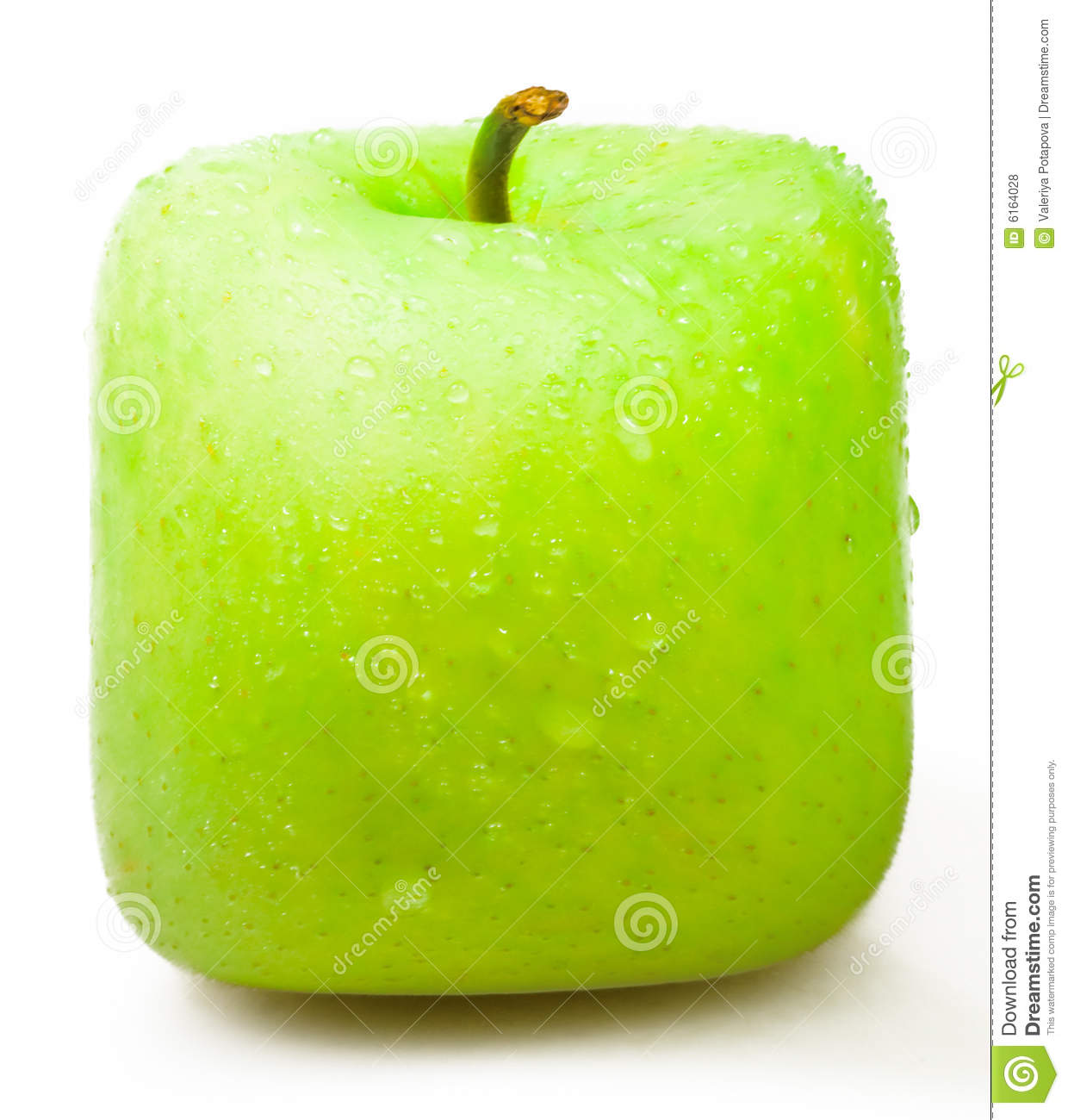 Square Apple On A White Background. Royalty Free Stock ...