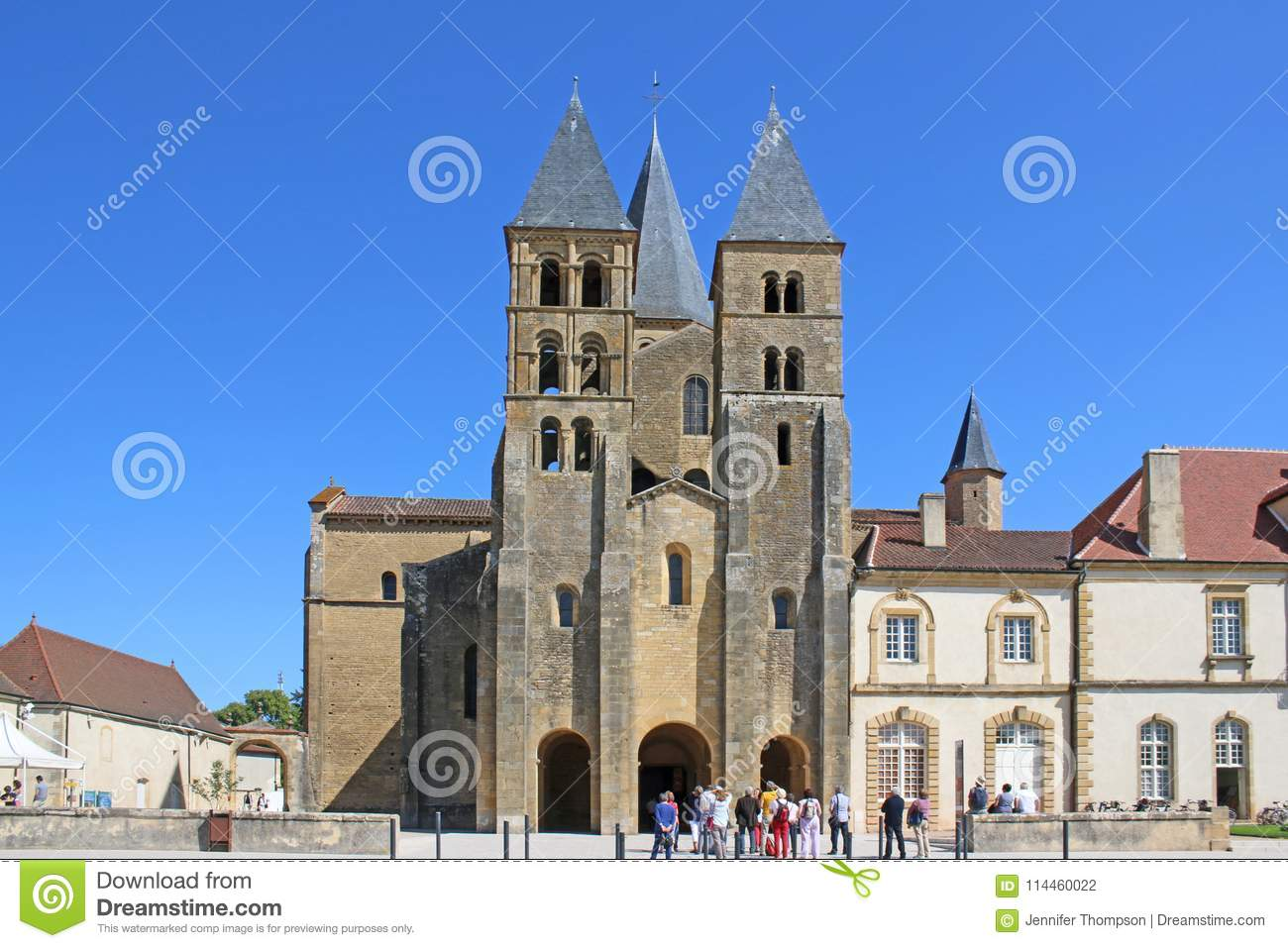 Architecte Paray Le Monial basilica of paray le monial, france stock photo - image of