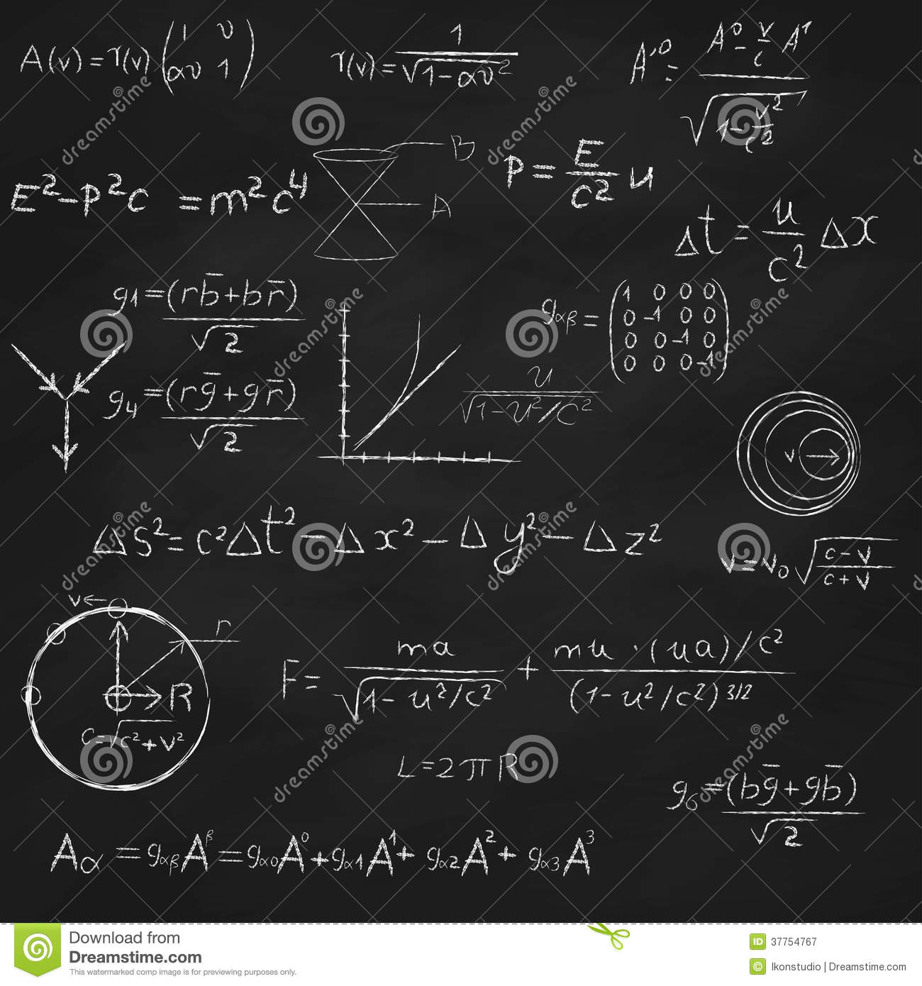 Time Travel Mathematical Equation