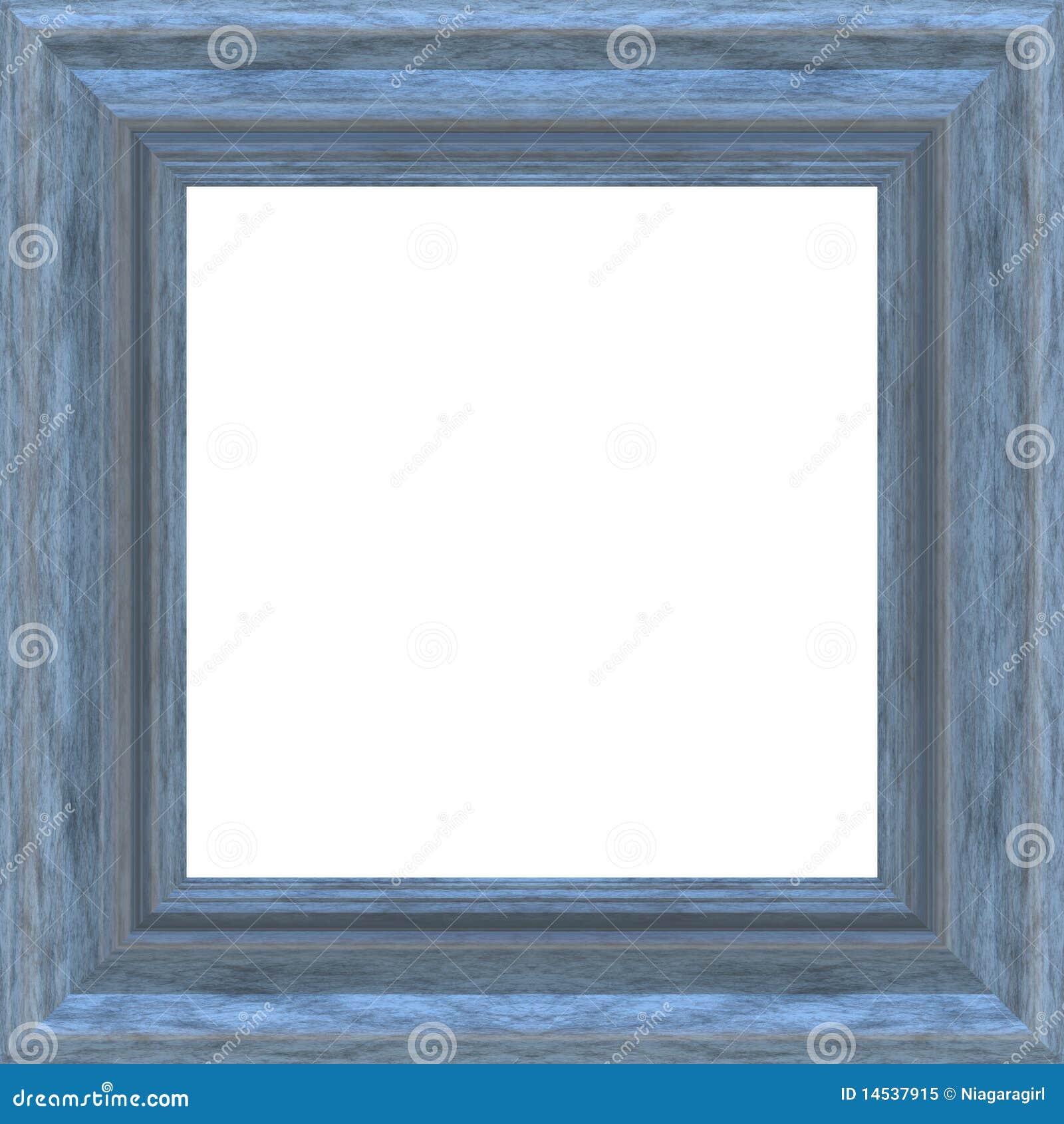 Square Blue Wood Frame Stock Illustration Illustration Of