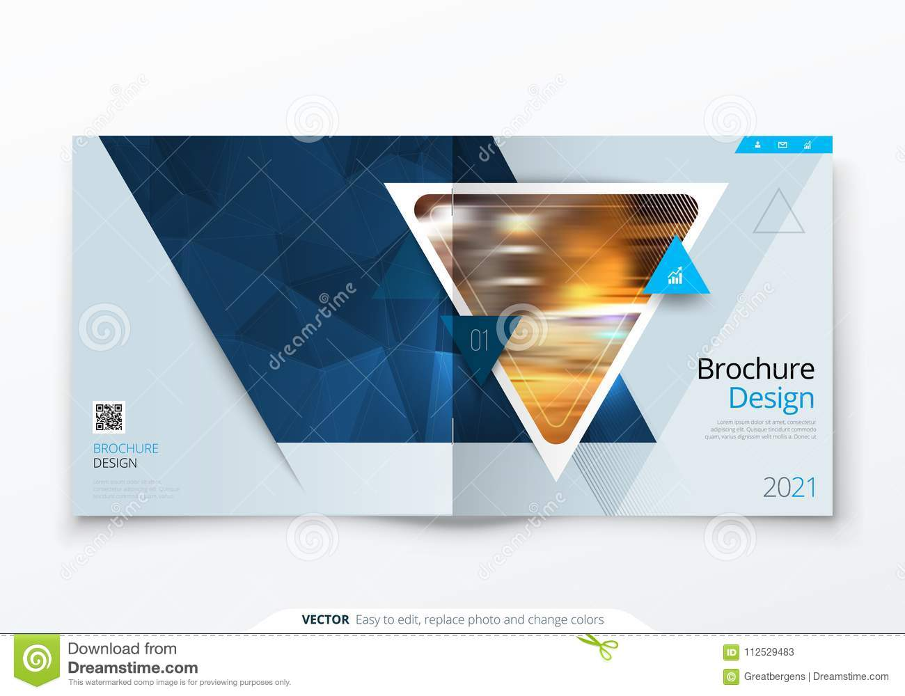 Square Brochure Design Red Corporate Business Rectangle Template Report Catalog Magazine
