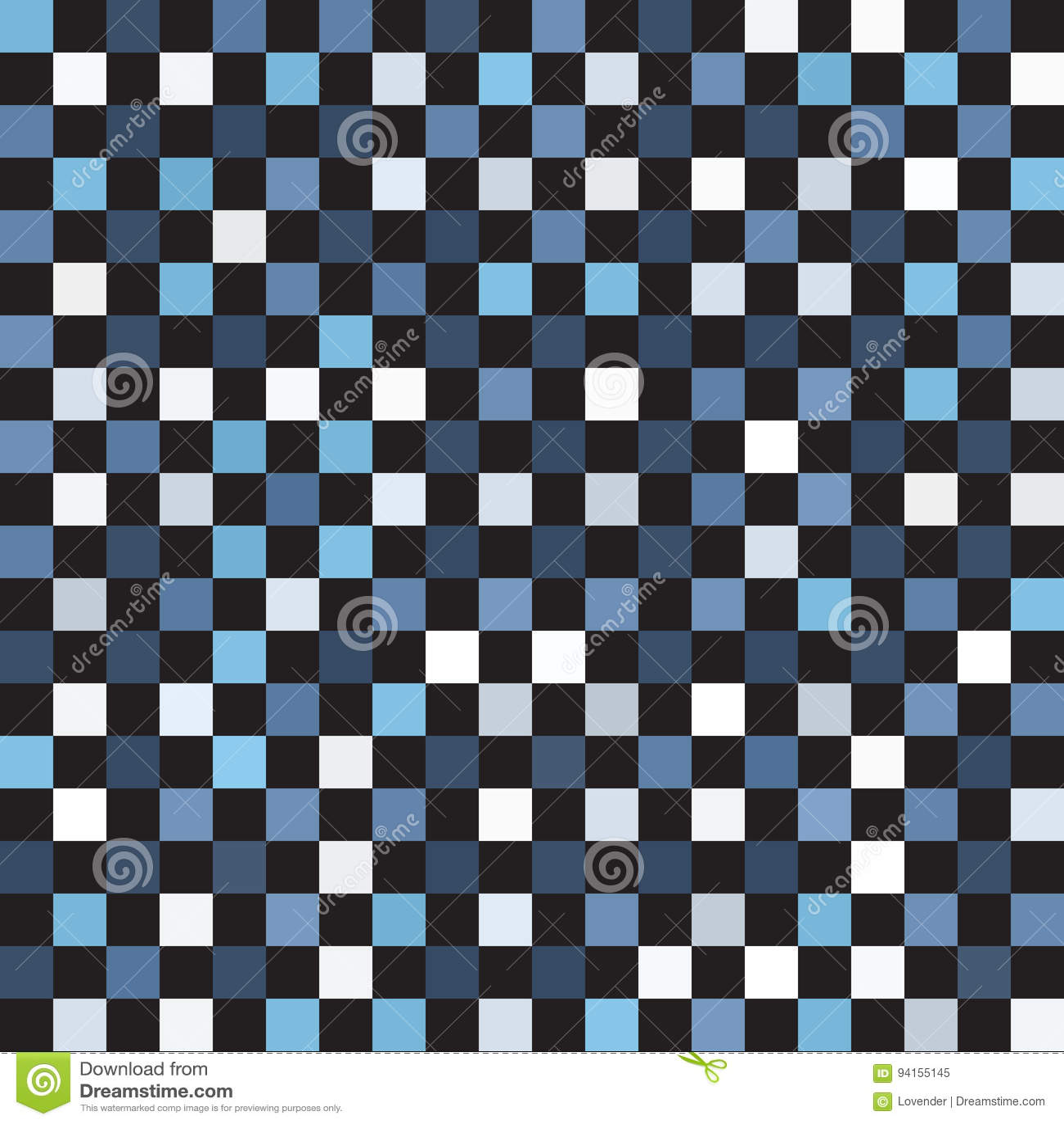 Checkered Design Square Checkered Pattern Seamless Vector Checkerboard Stock