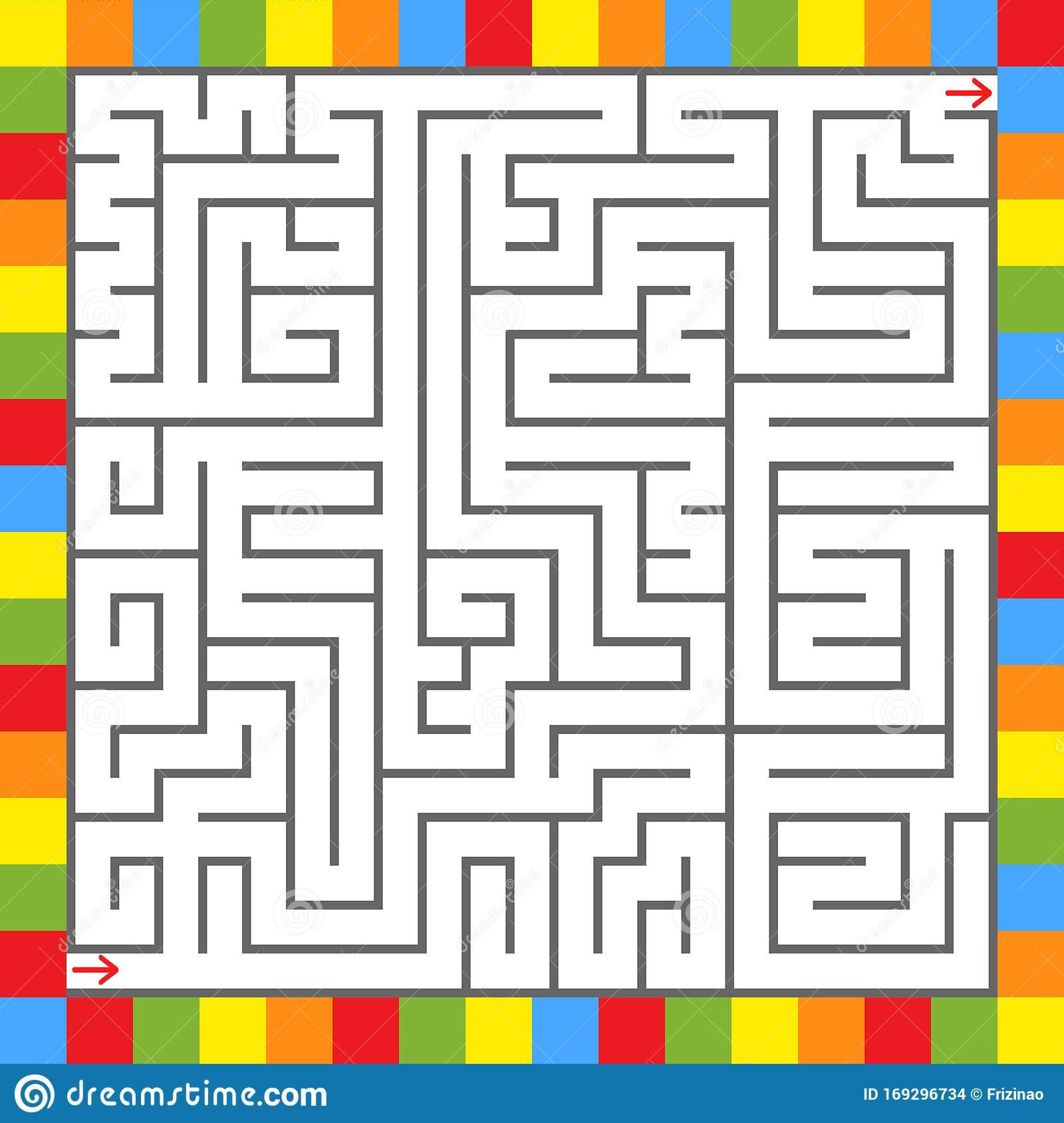 Square Color Labyrinth An Interesting Game For Children Simple Flat Vector Illustration Isolated On White Background Stock Vector Illustration Of Color Puzzle 169296734