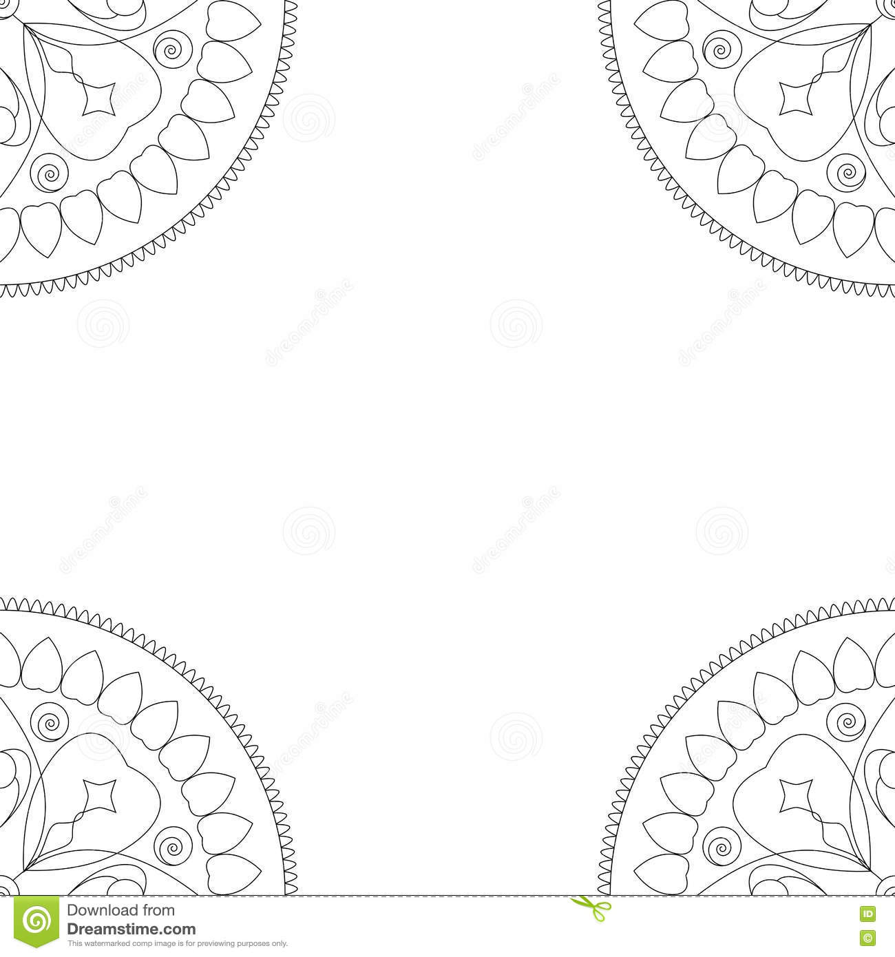 Royalty Free Vector Download Square Coloring Book Cover Or Background Illustration With Mandala