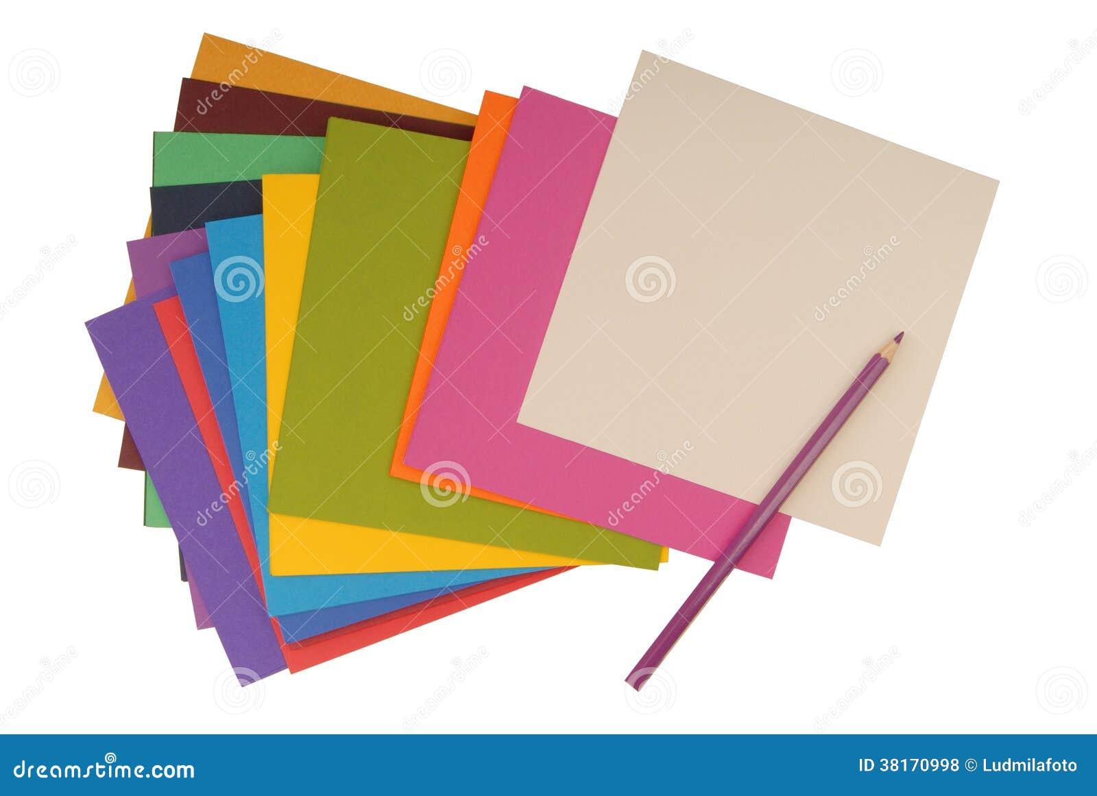 square coloured cardboard