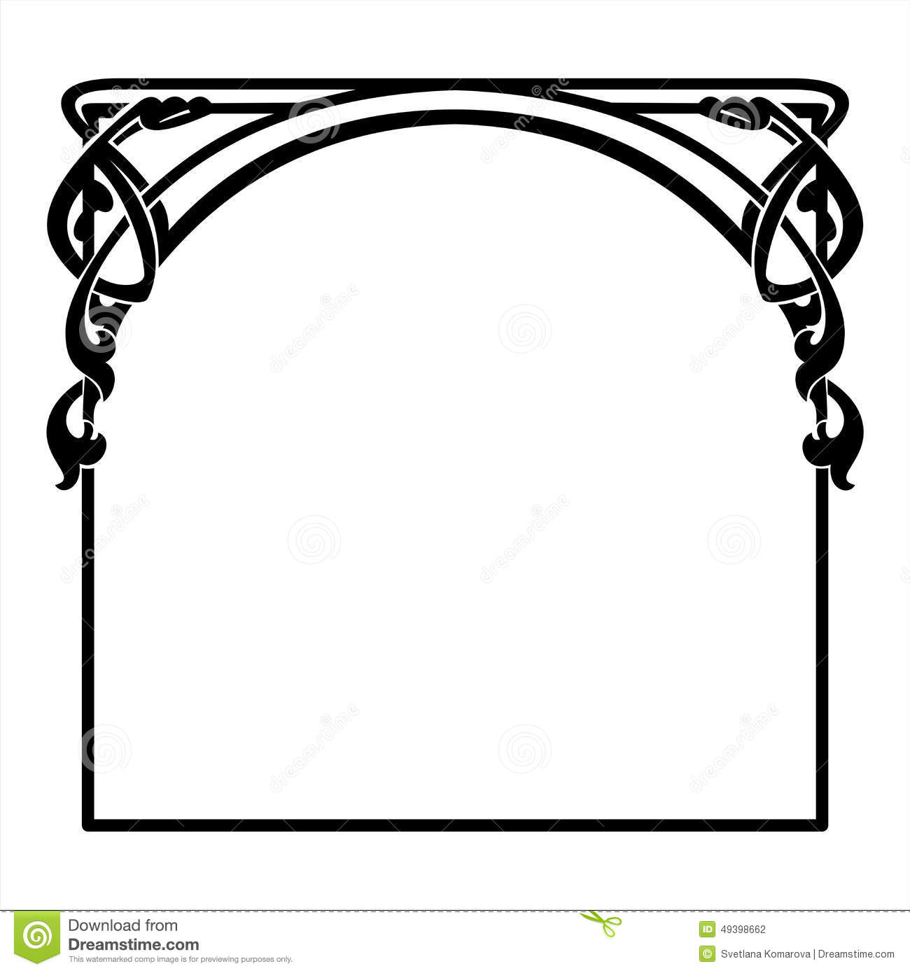 square decorative frame in the art nouveau style stock vector rh dreamstime com art deco clip art border art deco clipart