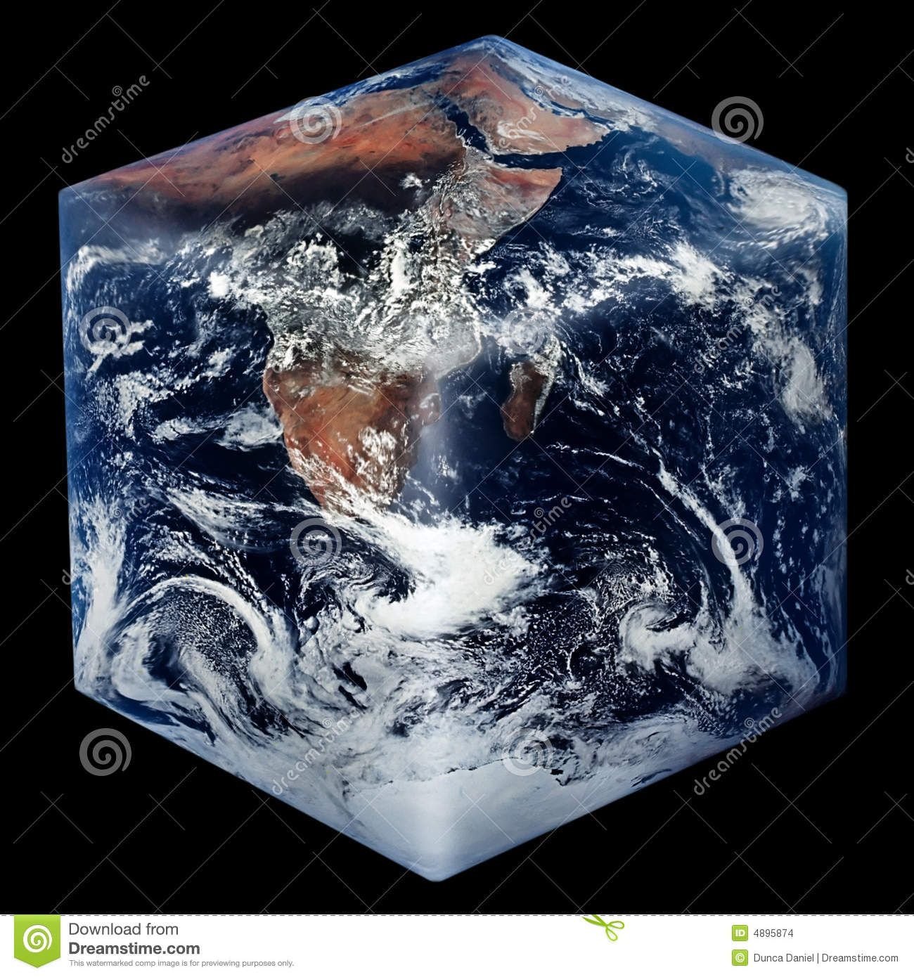 Square Earth Stock Images