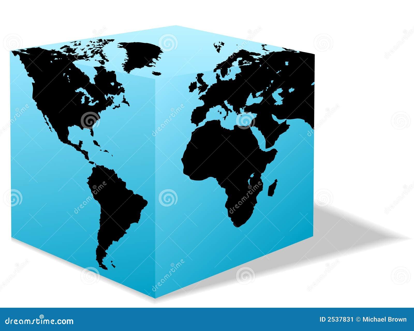 square earth globe box carton world stock vector illustration of