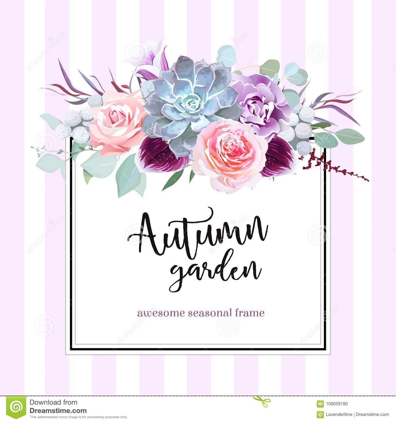 square floral vector design card stock vector