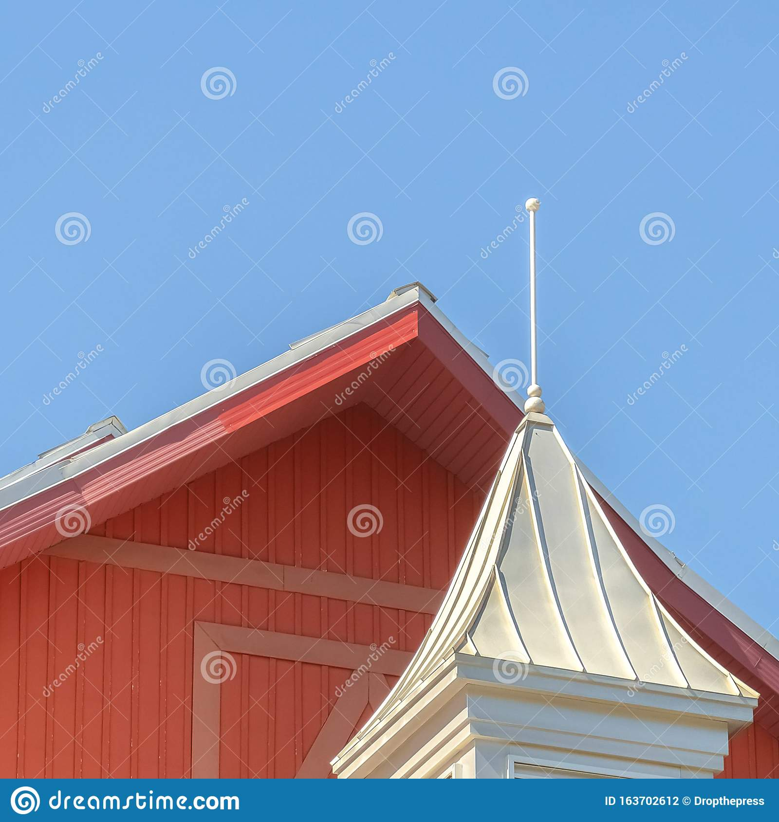 Square Frame Close Up Of Roof Of A Barn On A Vinyard ...