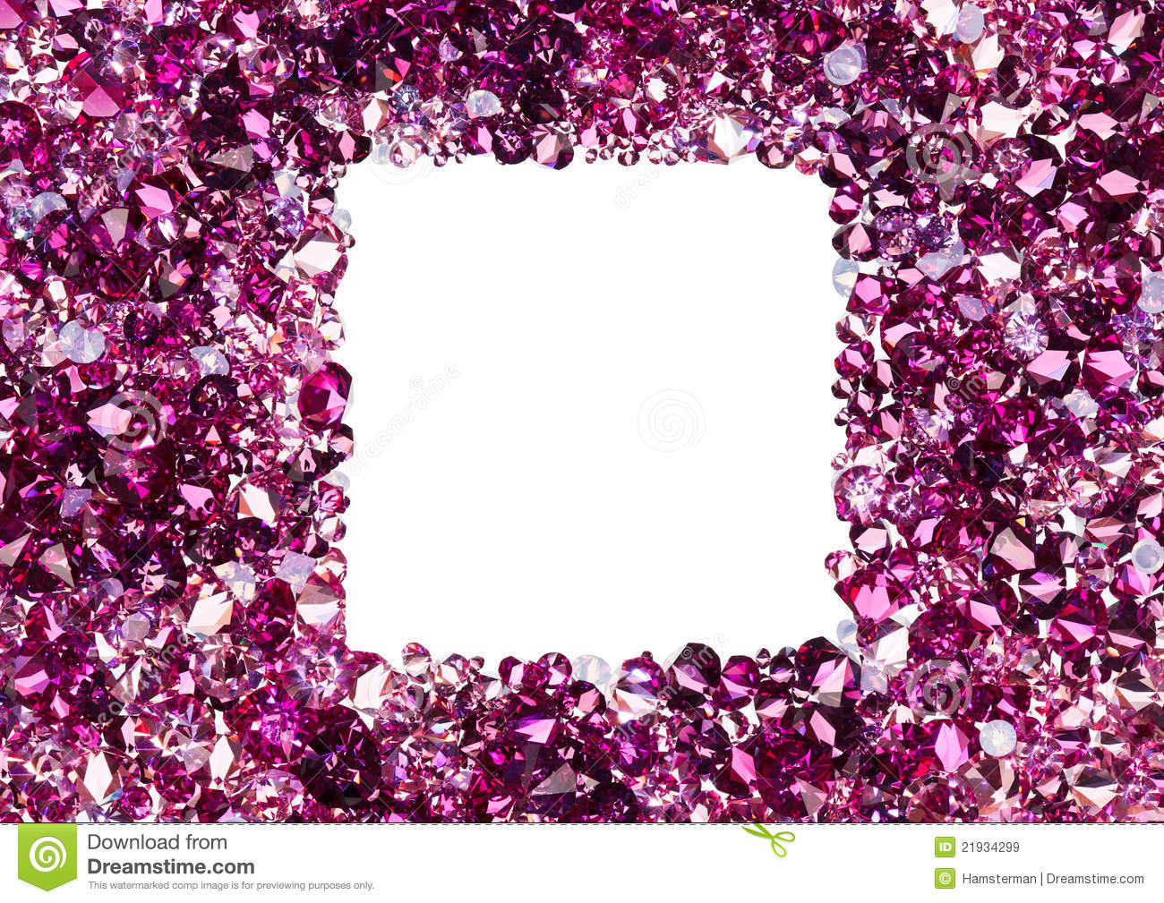 Square Frame Made From Many Small Ruby Diamonds Royalty ...