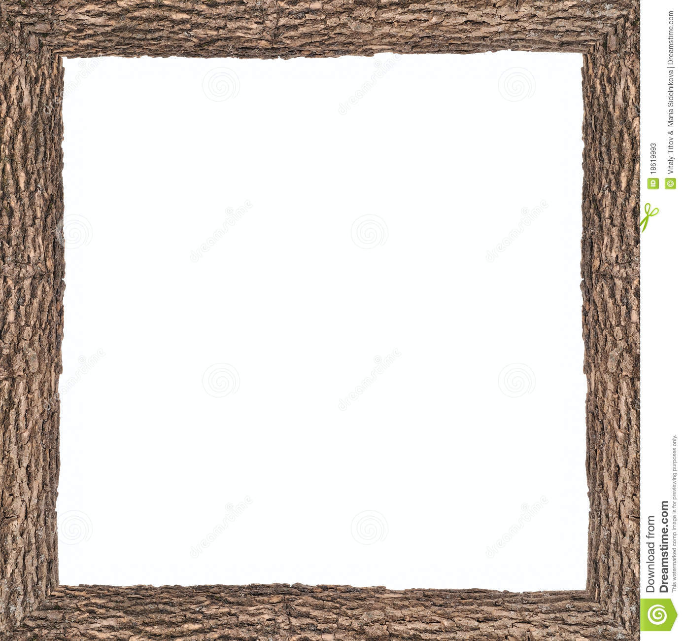 Square Frame With Wooden Bark Texture Stock Photos - Image ...
