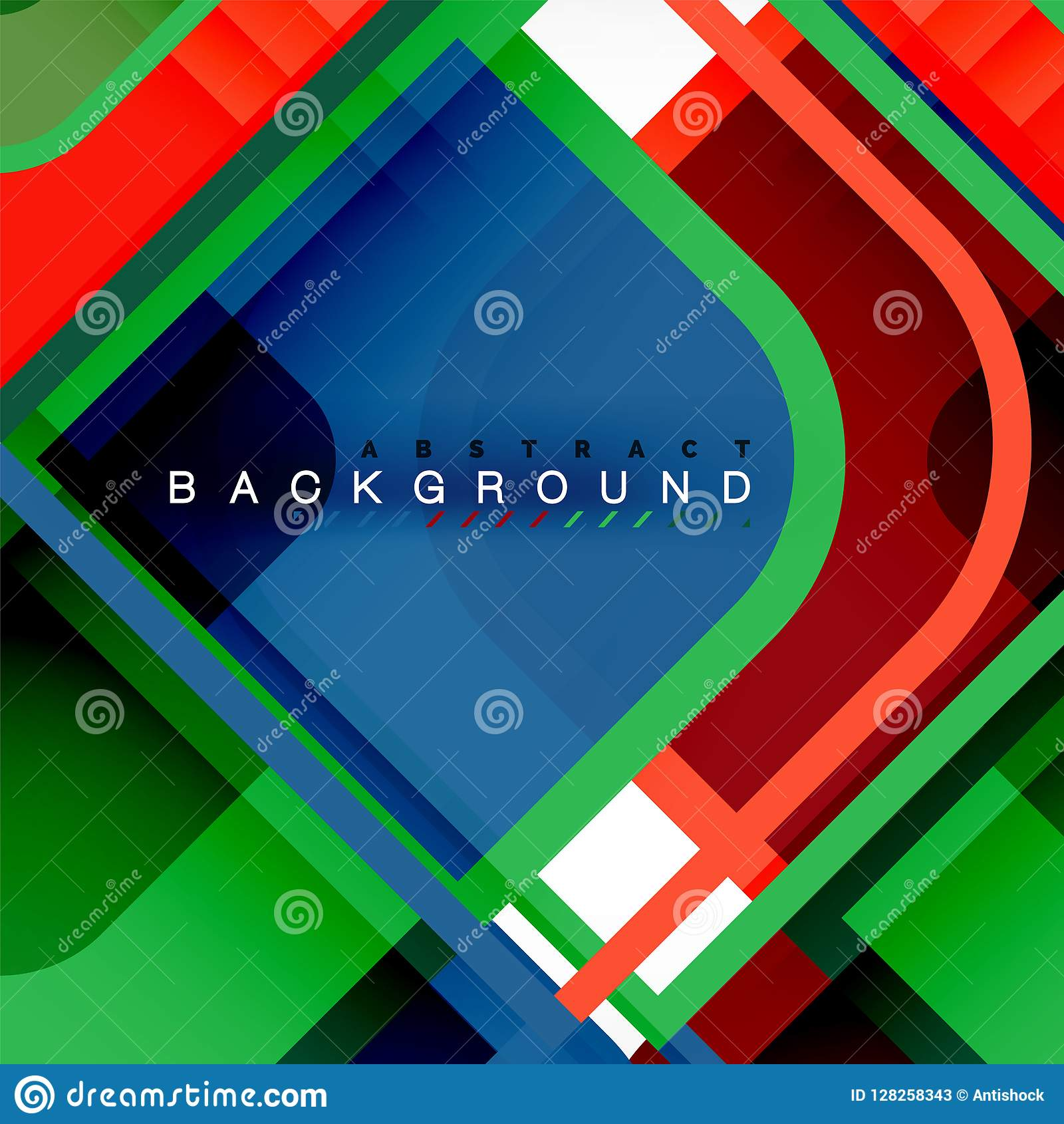 square geometric abstract background paper art design for cover