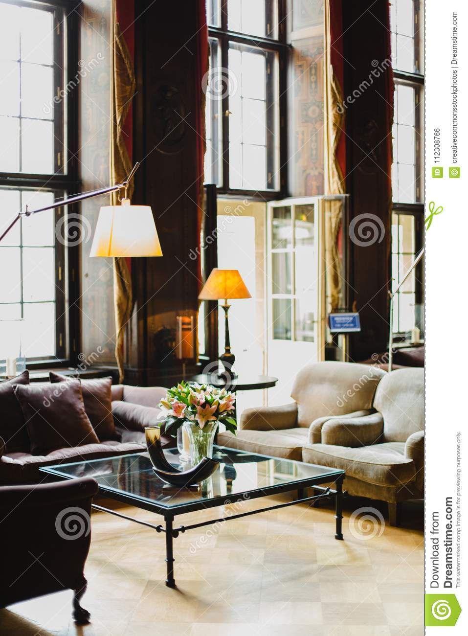 - Square Glass-top Coffee Table Picture. Image: 112308766