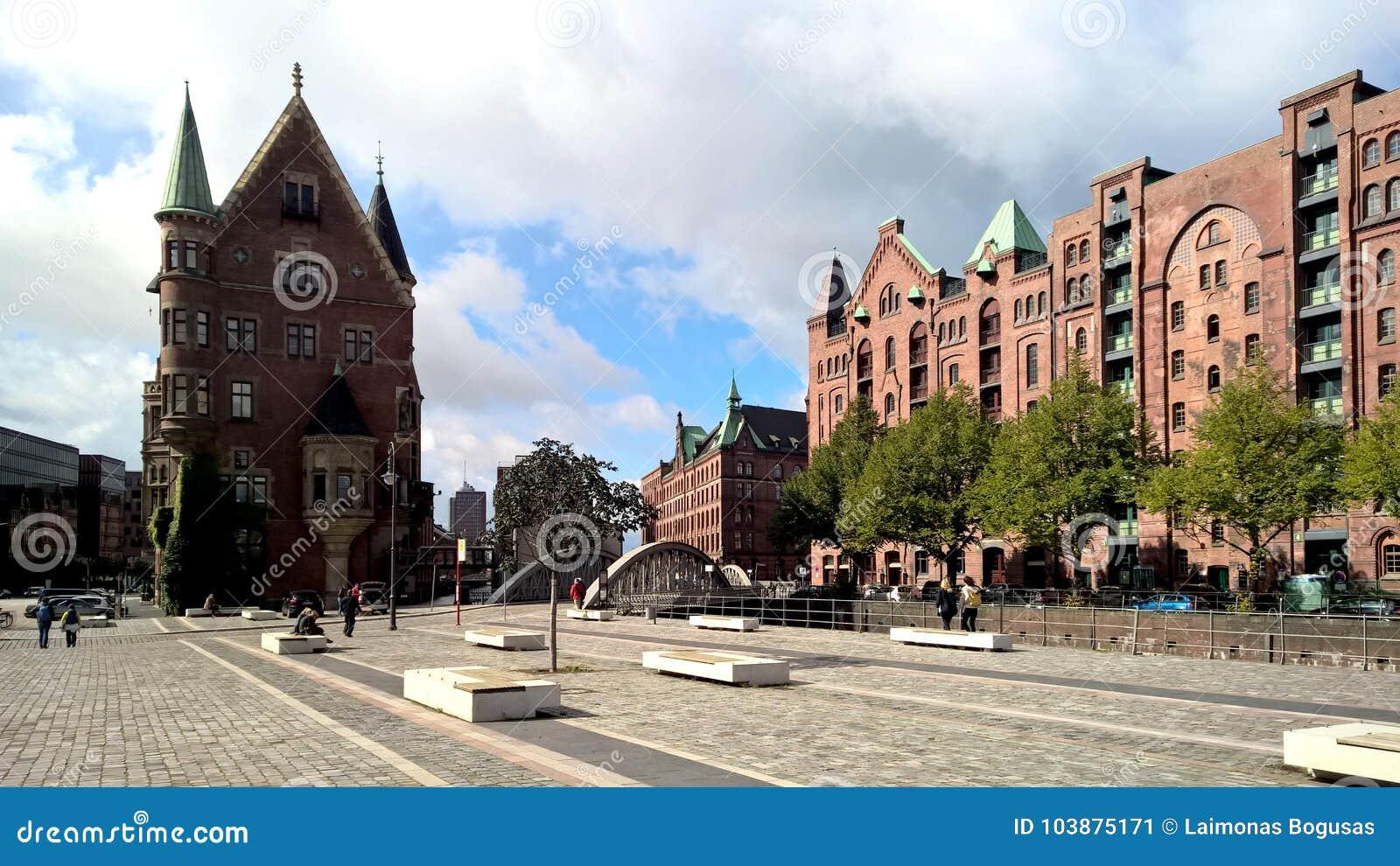 The square in Hamburg, Speicherstadt