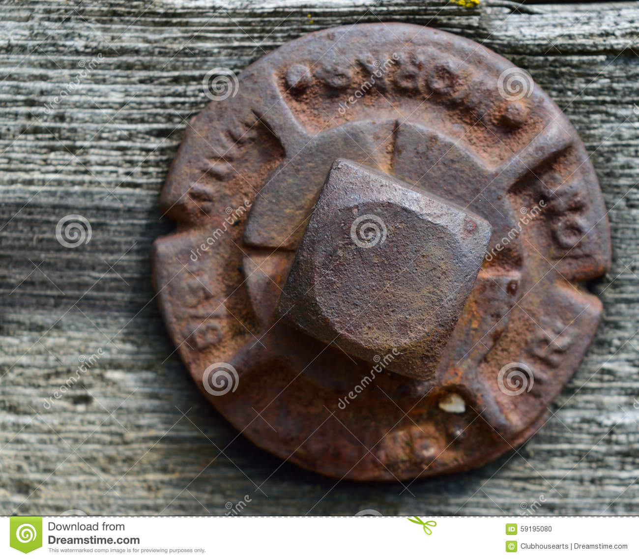 Bolt And Washer >> Square Head Iron Bridge Bolt Stock Photo - Image: 59195080