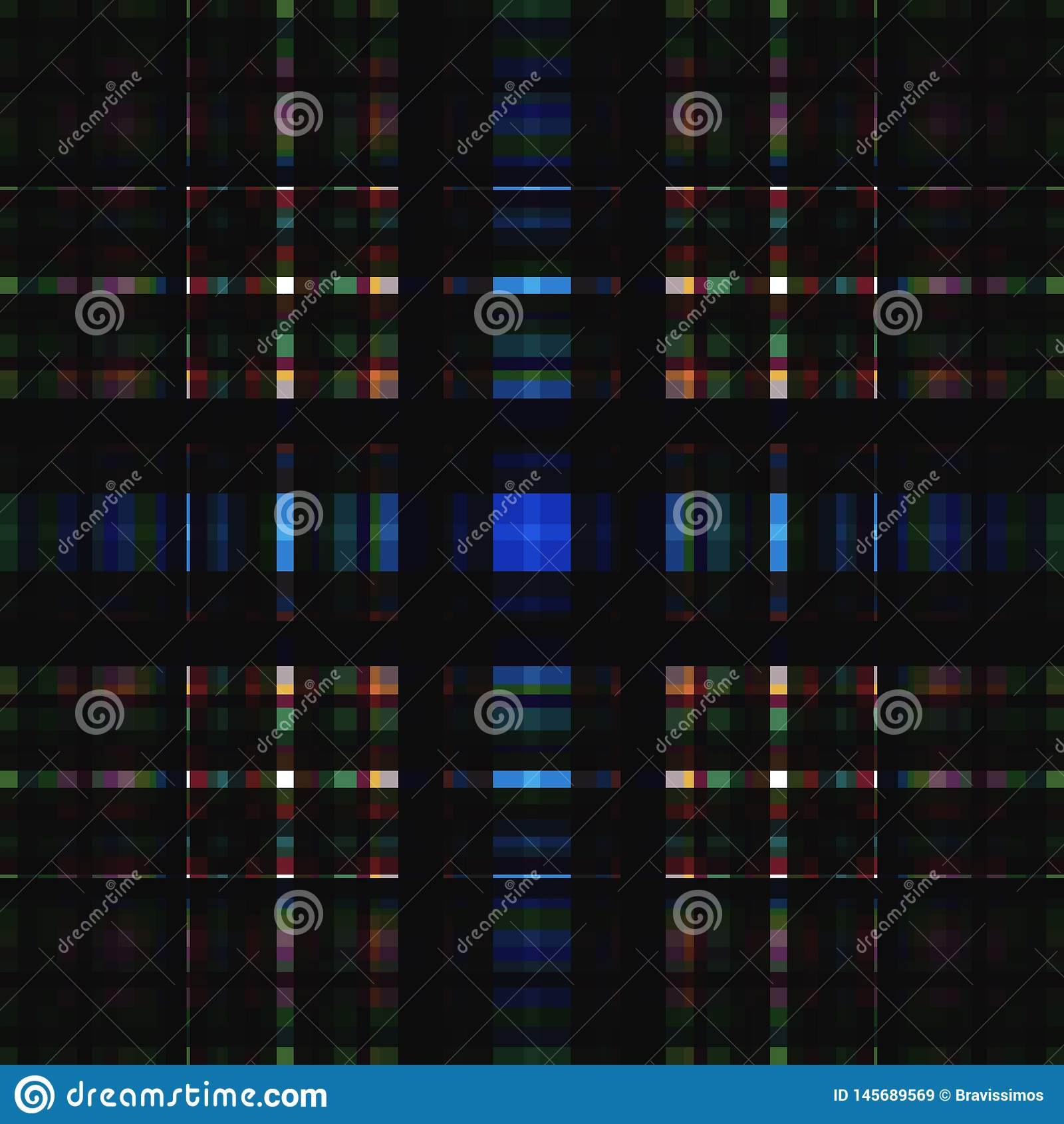 Square hypnotic pattern, illusion geometric.  repetitive