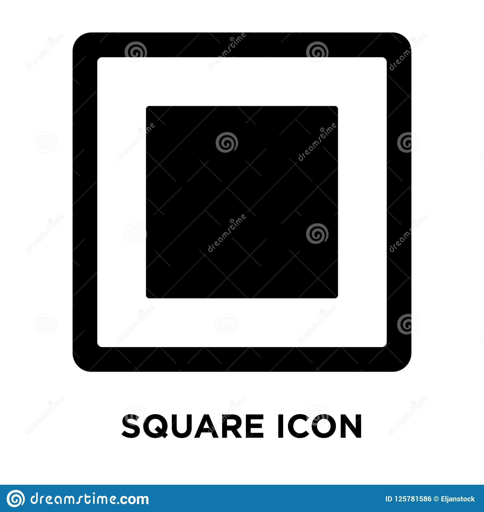 Square icon vector isolated on white background, logo concept of