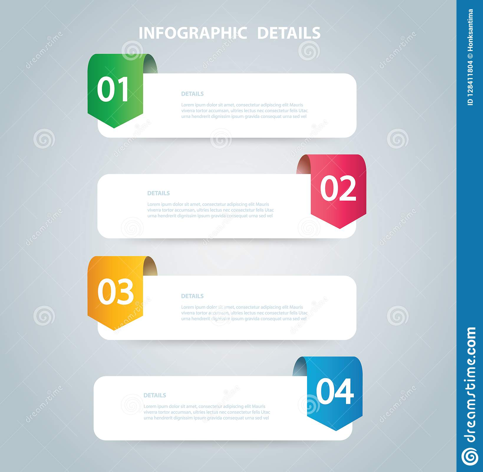 square info graphic vector template with 4 options can be used for