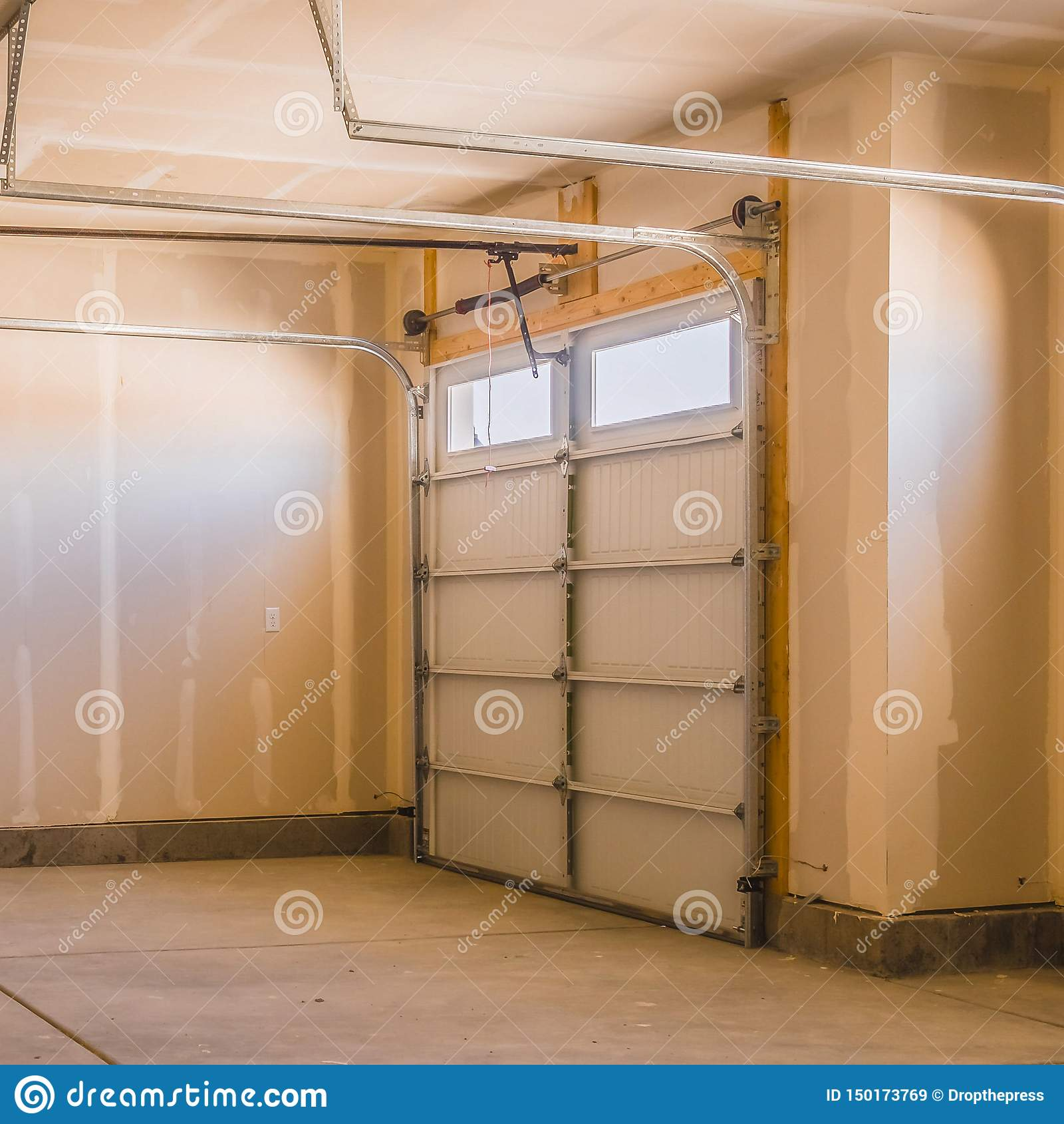 Square Interior Of A Garage Under Construction With Unfinished Walls Stock Image Image Of Home Inside 150173769