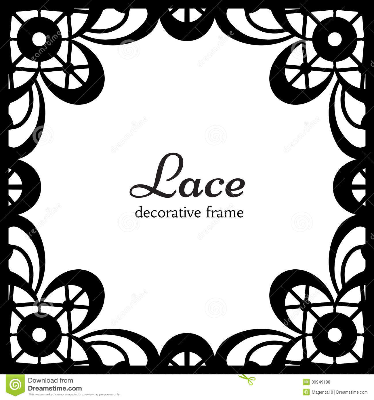 square lace frame royalty free stock photos