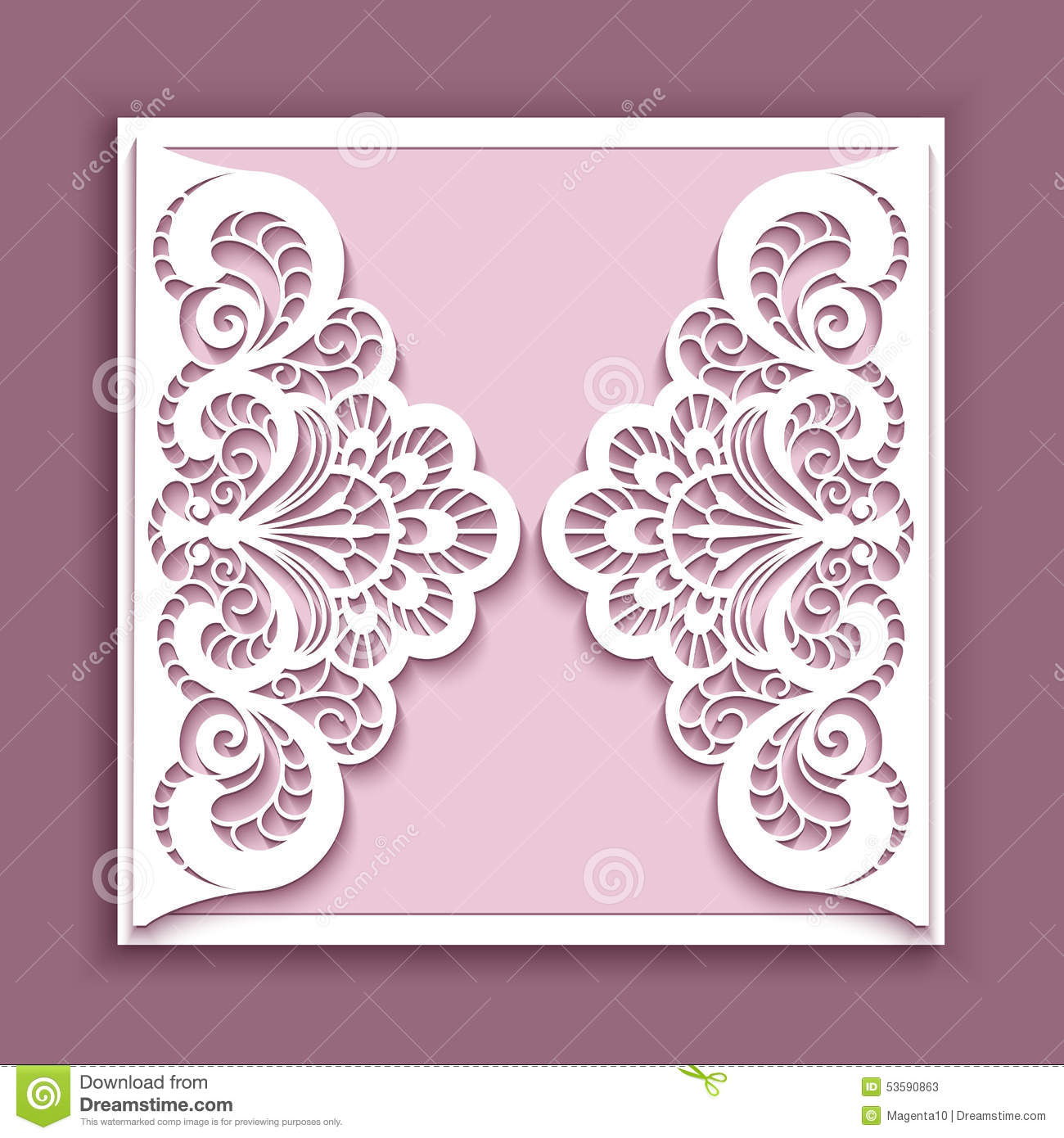 ... greeting card, square wedding invitation or announcement template