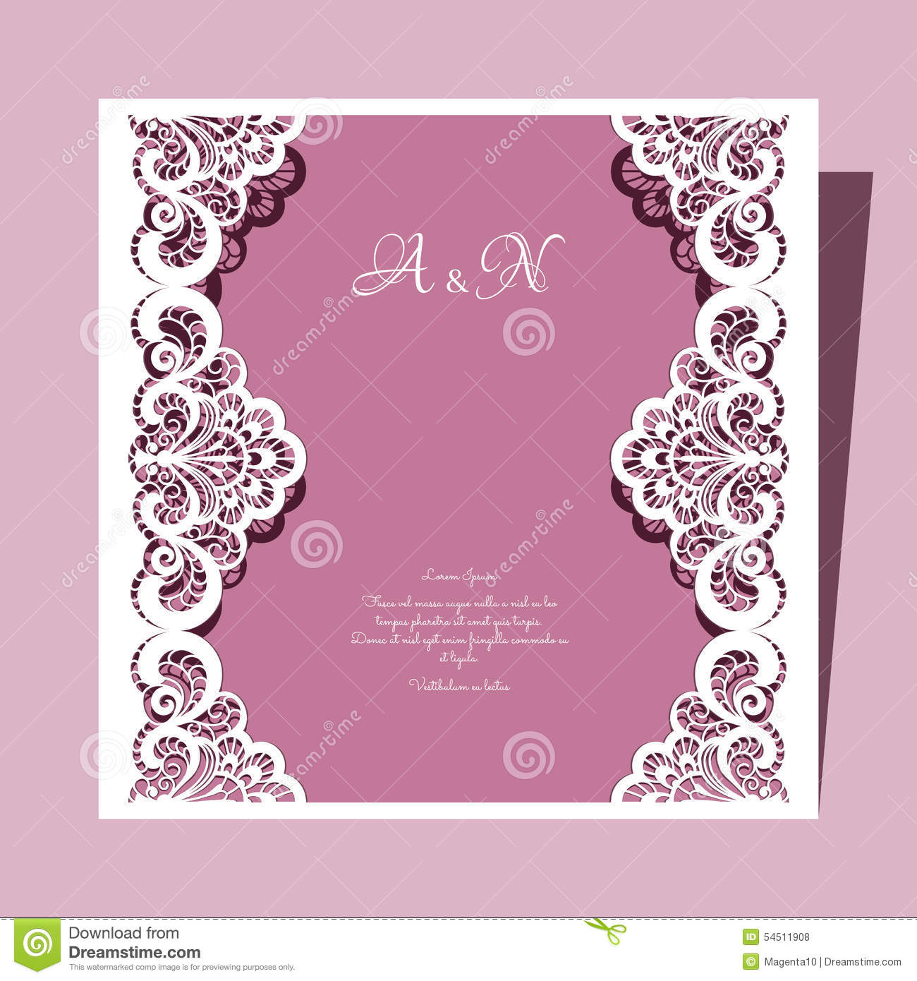 square lace wedding card stock vector image of frame 54511908. Black Bedroom Furniture Sets. Home Design Ideas