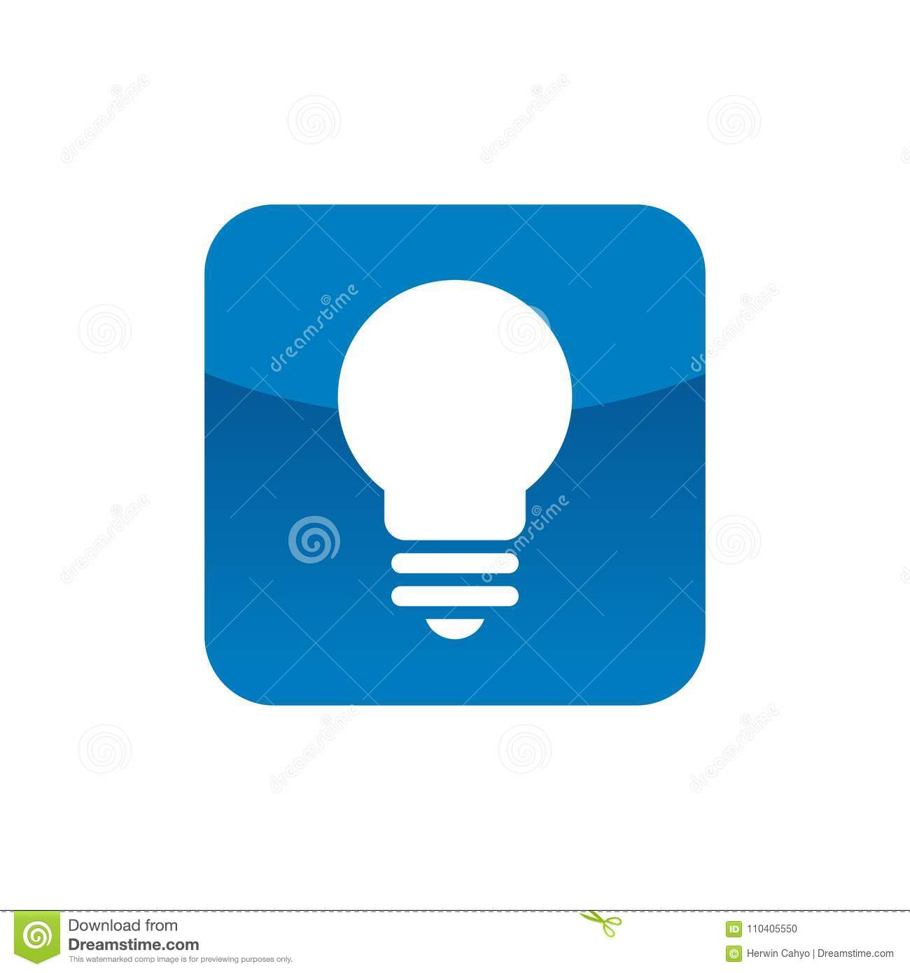 Square With Lightbulb Symbol Stock Vector Illustration Of