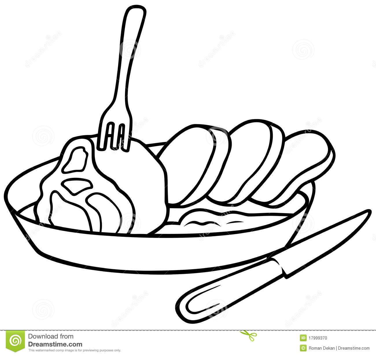 Square Meal Stock Vector. Image Of Clipart, Illustration