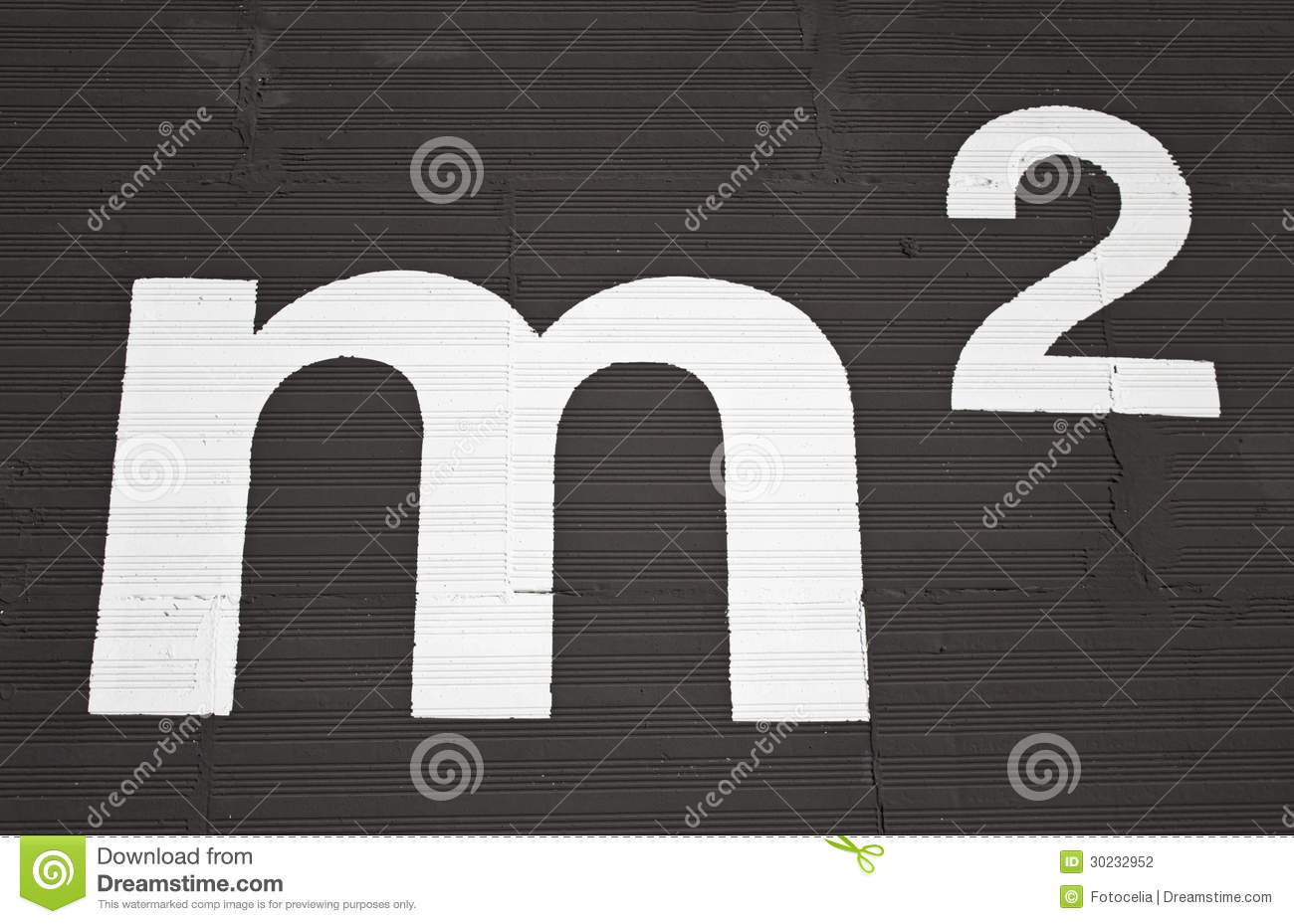 Square Meters Stock Photo Image Of Black Meter Isolated 30232952