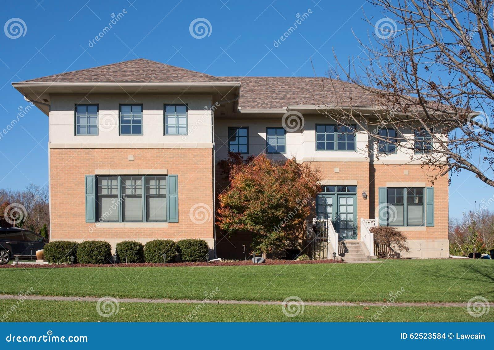 Square Modern House Stock Photo Image 62523584