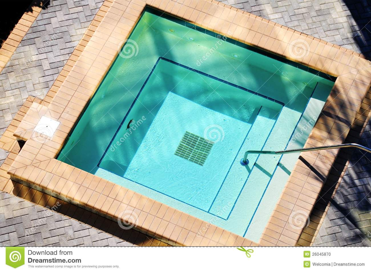 square outdoor jacuzzi stock photo image 26045870. Black Bedroom Furniture Sets. Home Design Ideas