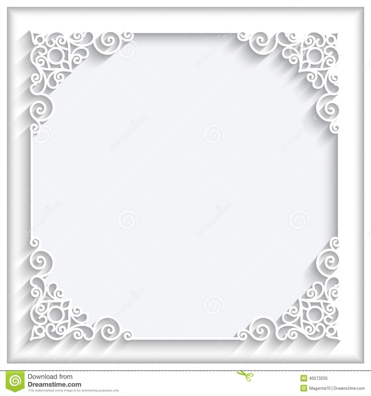 Frame design for wedding invitation vector border in victorian style - Square Paper Frame Stock Vector Image 40573255