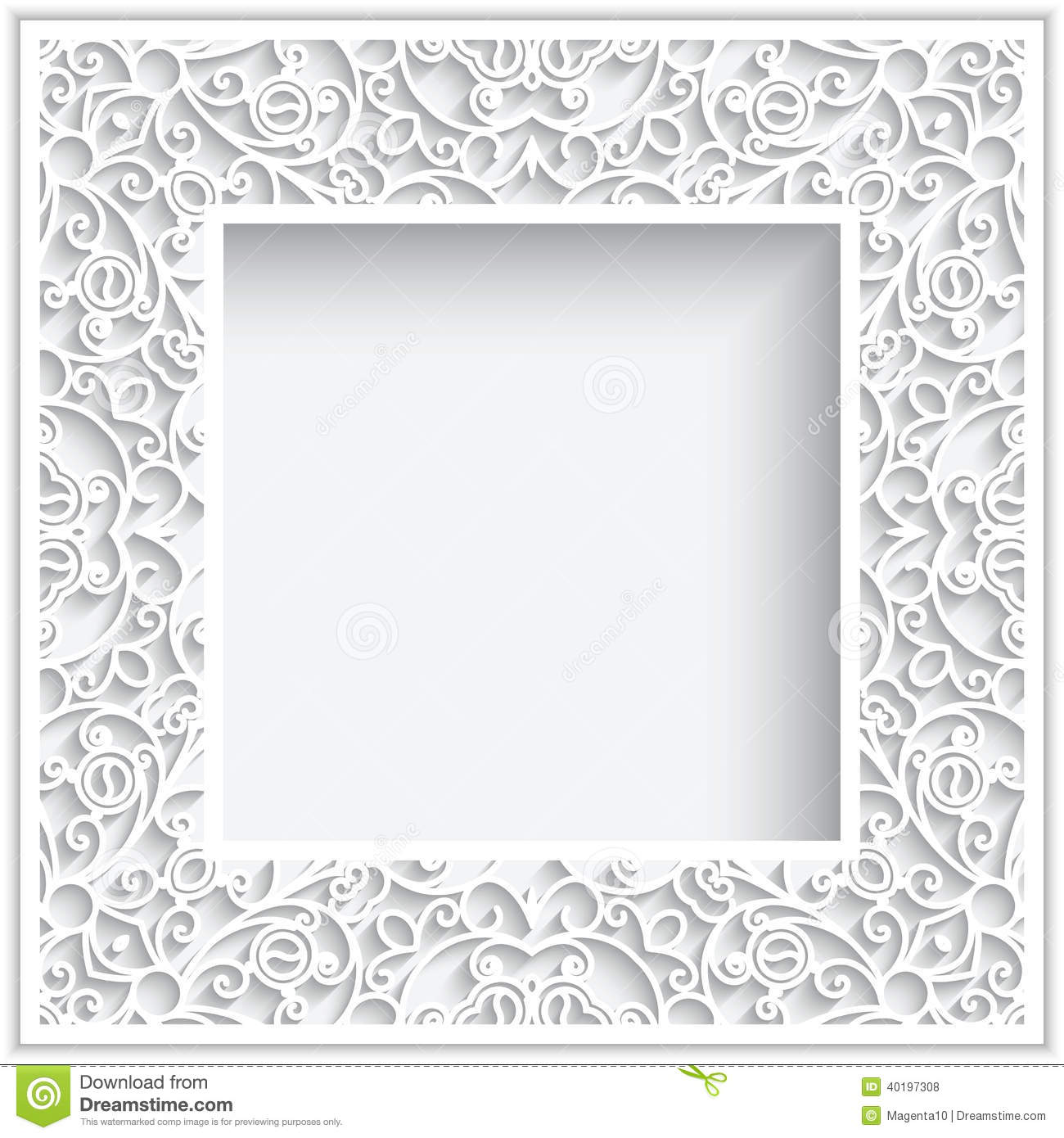 Square paper frame stock vector. Illustration of cutout - 40197308