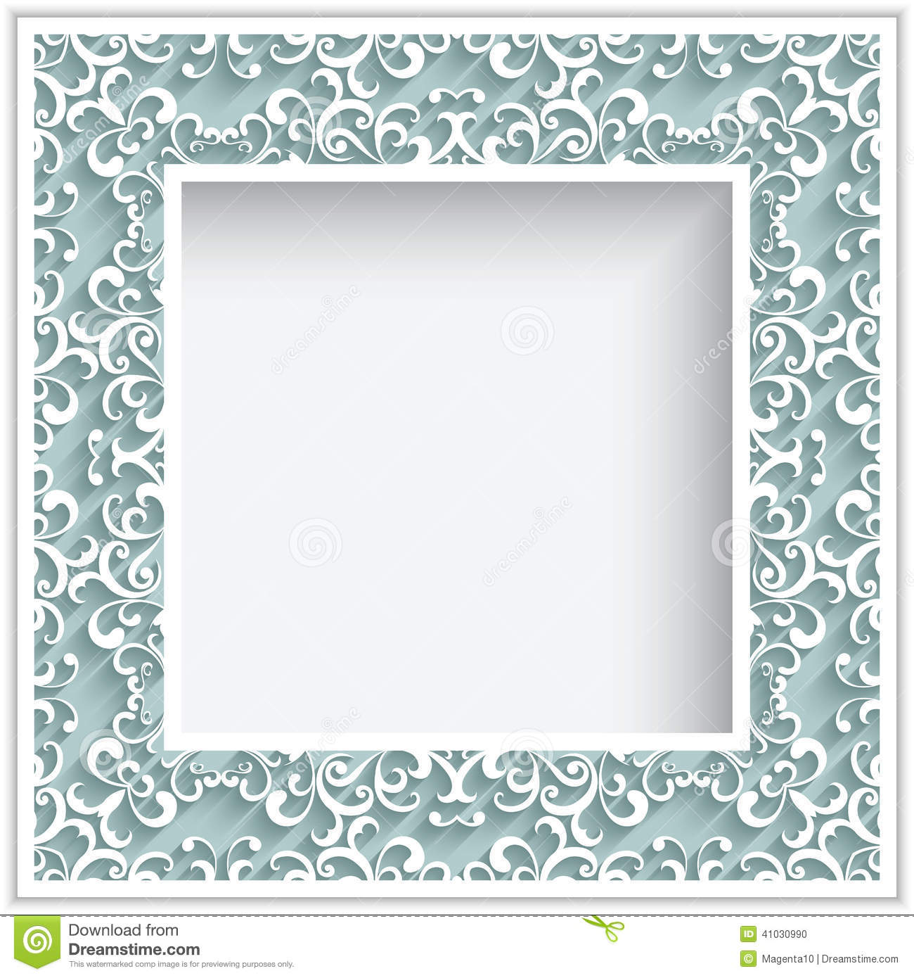 Square Paper Lace Frame Stock Vector Image 41030990