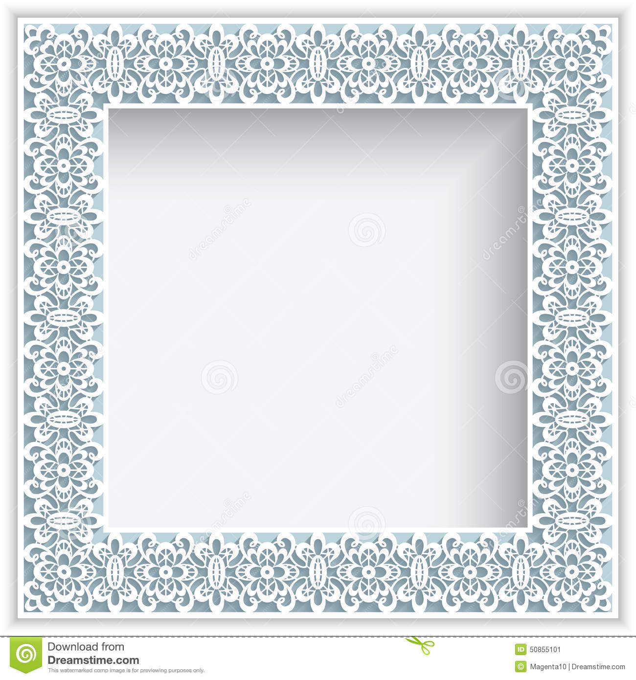 Square Paper Lace Frame Stock Vector Image 50855101