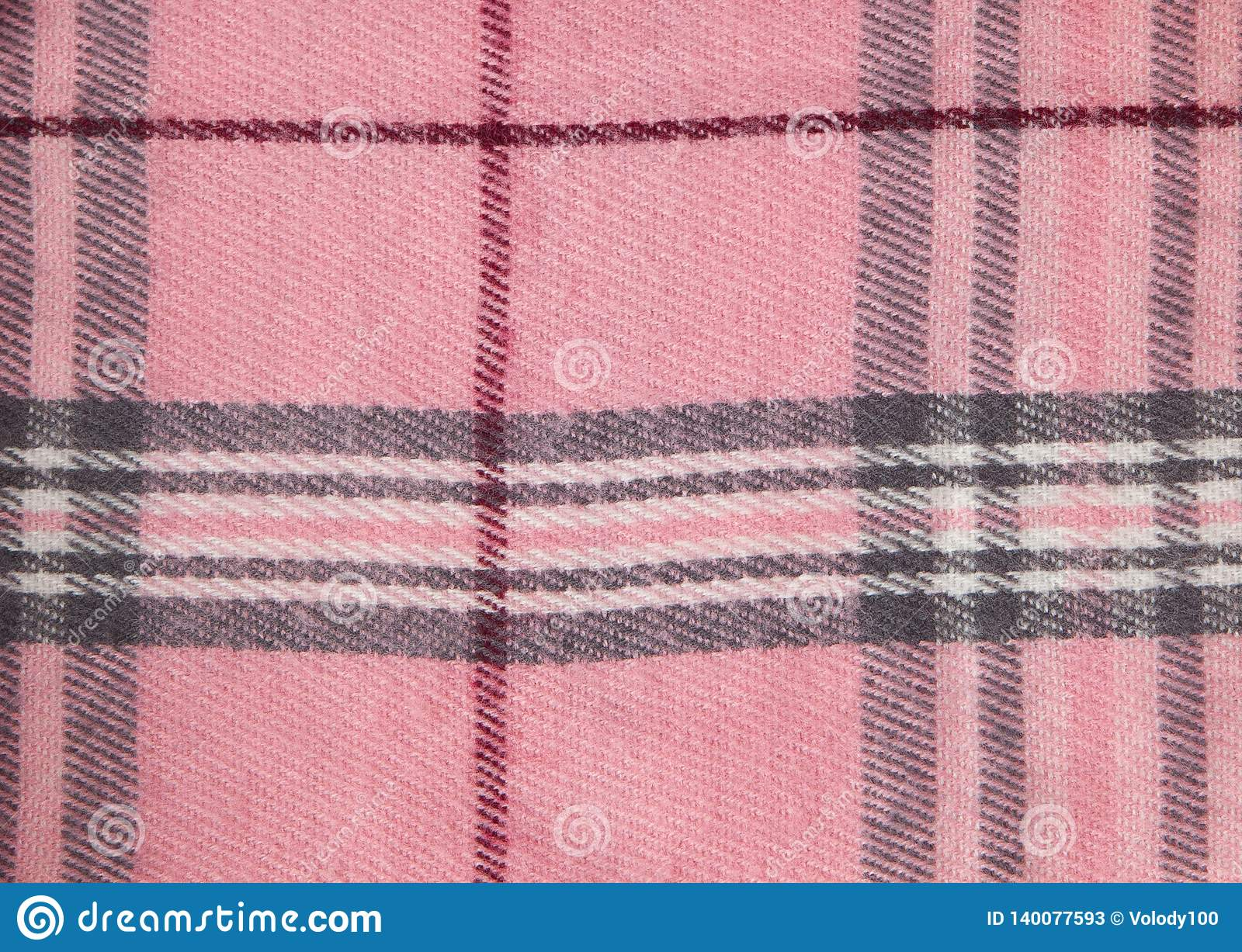 Square pattern fabric background. Textures pink and white cotton fabric. The pattern for textiles. Cell. Shirts plaid. Trendy