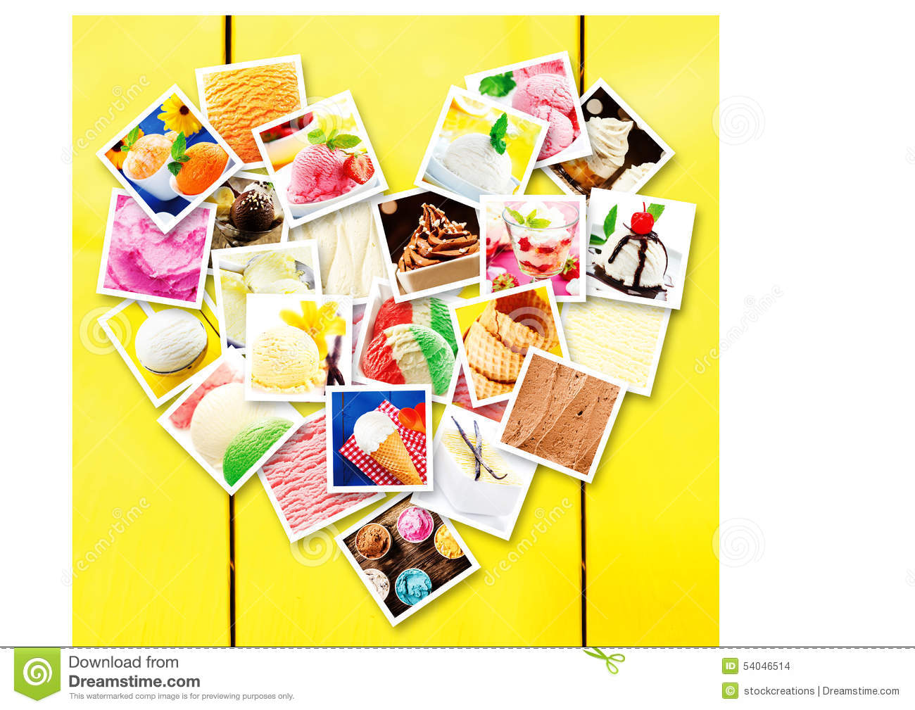 Square Pictures Of Different Types Of Ice Cream Stock Photo - Image ...
