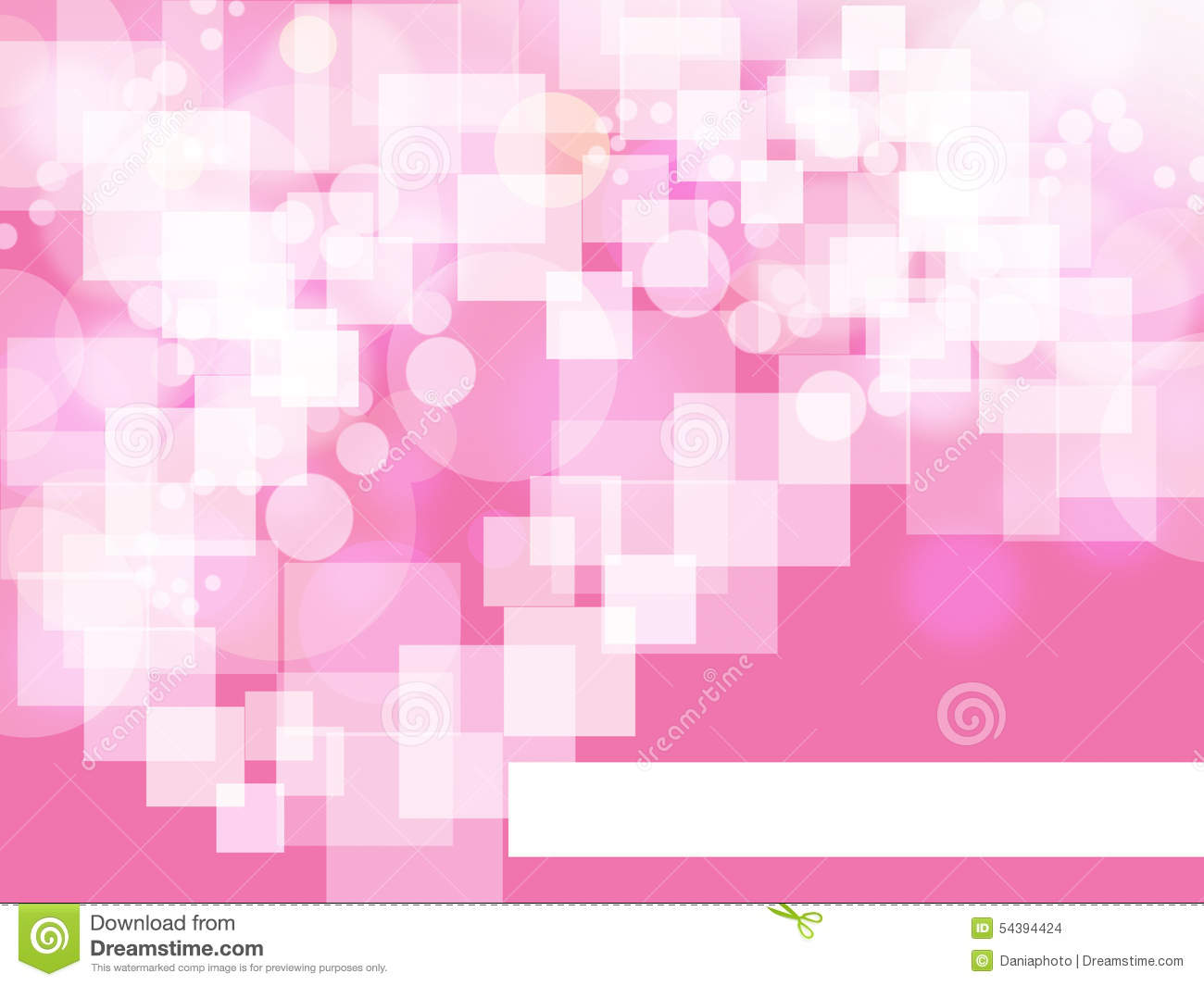 Square on pink background