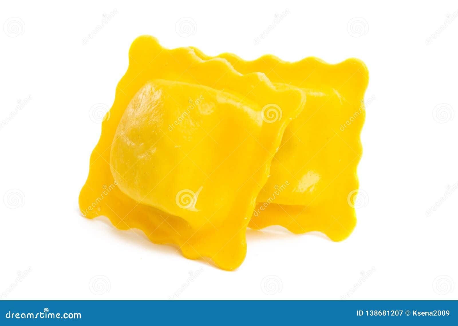 square ravioli isolated