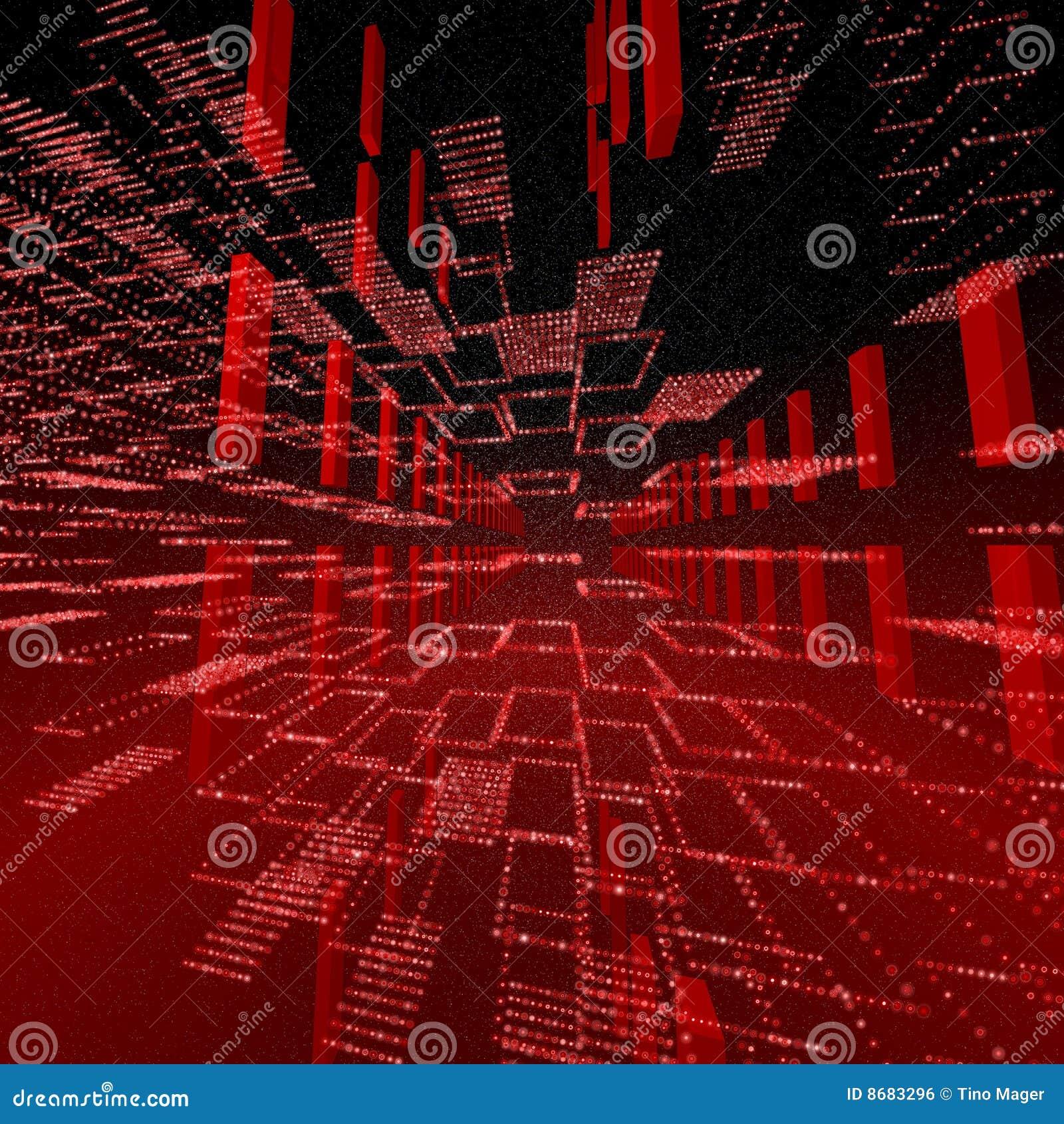 Square Red Matrix Background Stock Illustration